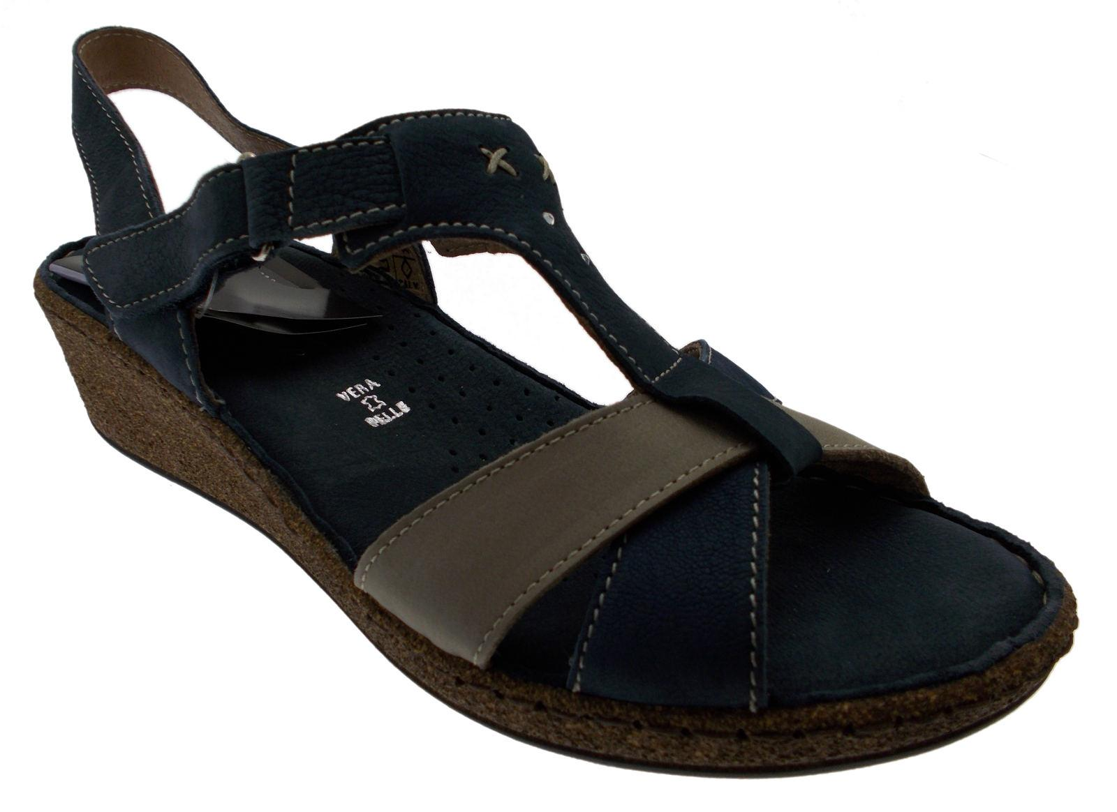 Sandalo nabuk multicolor blue  art 22820-2 Florance