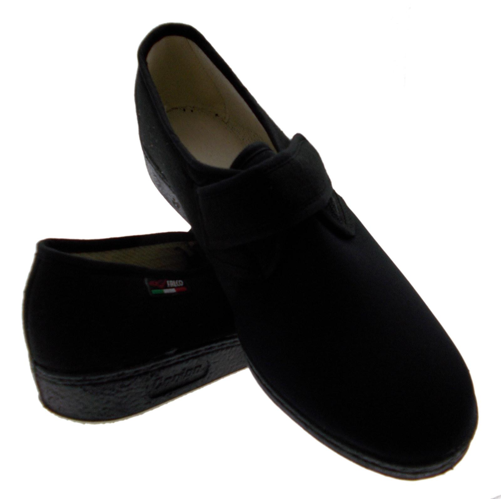 slipper Velcro stretch cotton schwarz physiotherapy extra large Article 193 Gaviga