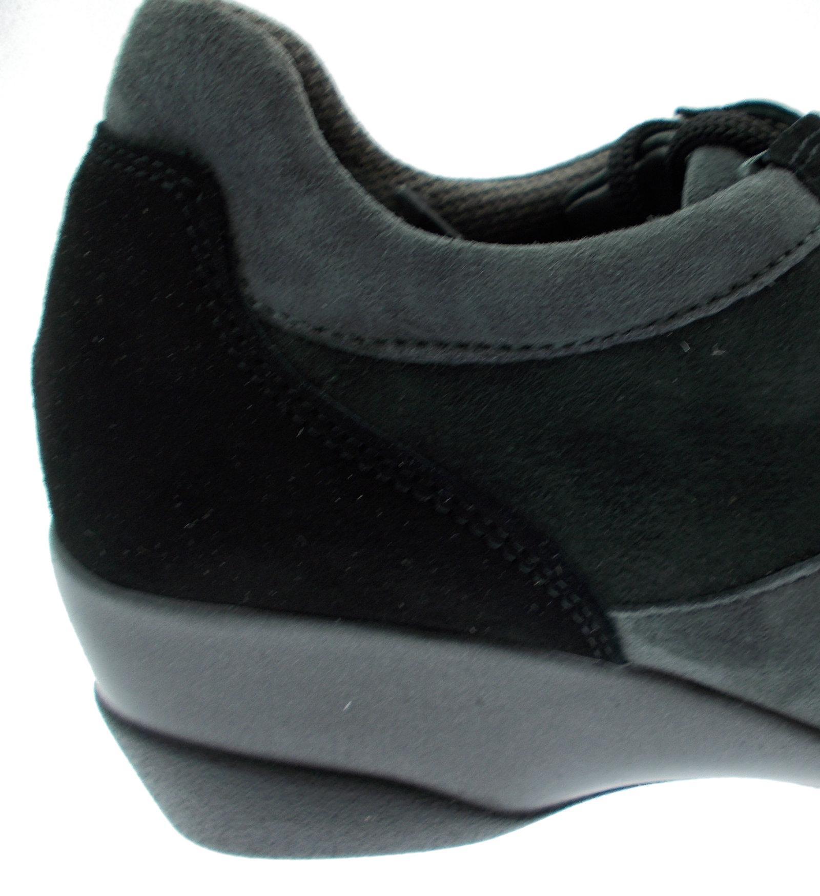 shoe laces r0365 black suede gray wedge melluso