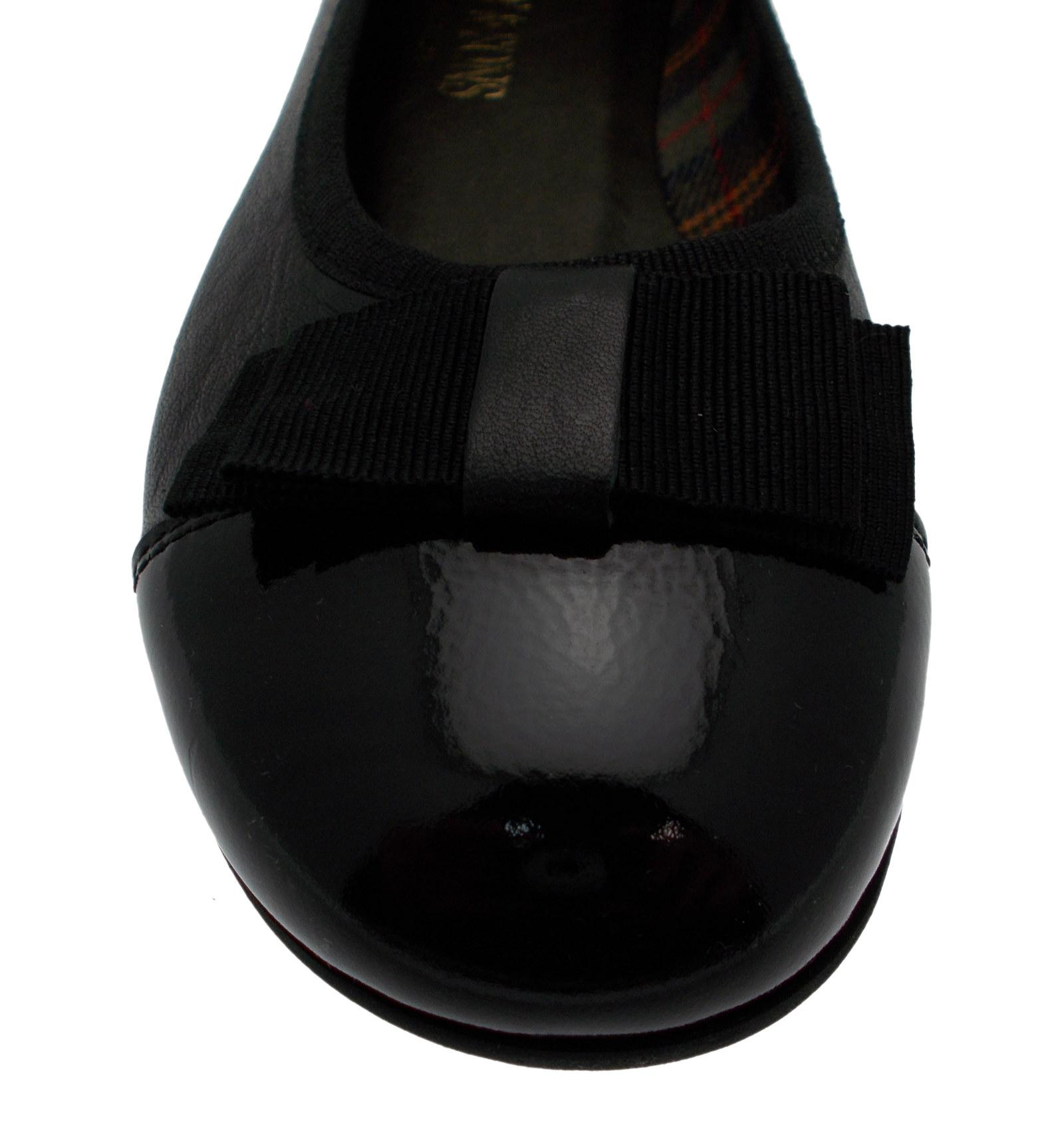 Paperina danser zwart R.P lakleer knoop art 1473 Calzaturificio R.P zwart f4b2e4