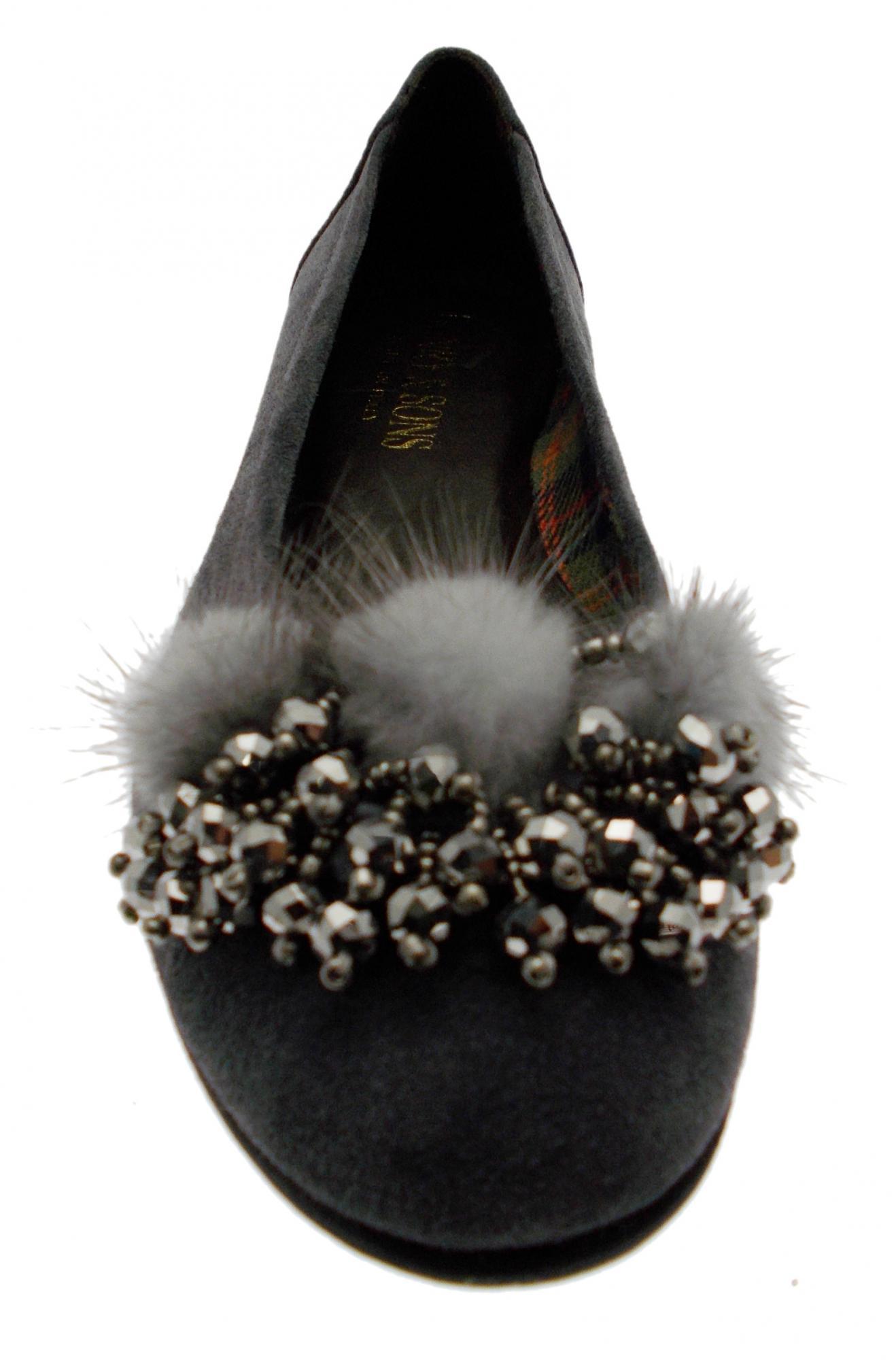 Paperina ballerina camoscio grigio visone art 3493 3493 3493 Calzaturificio R.P 9cf22c