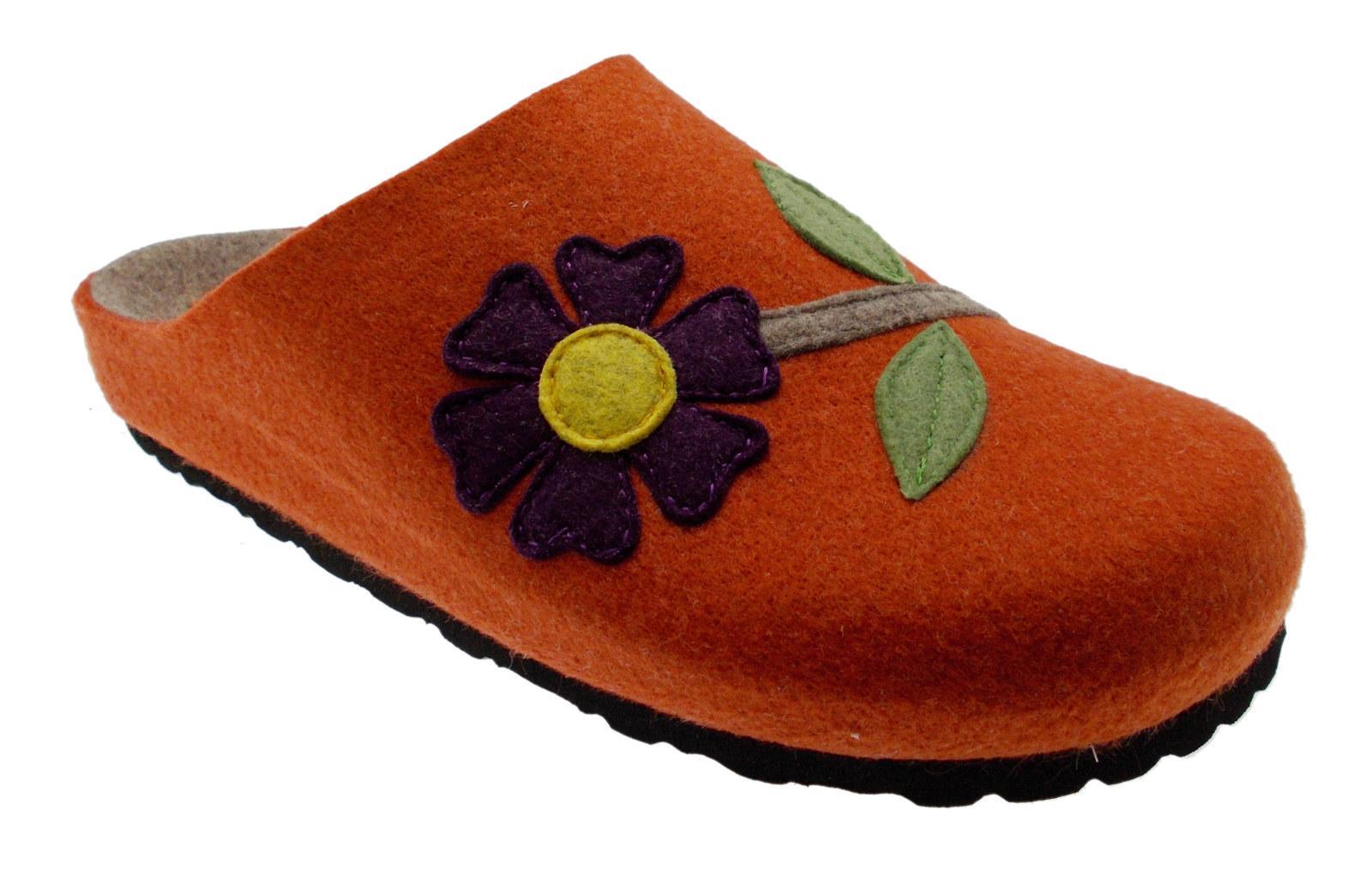 Paño De Lana Naranja Slipper Slipper Naranja Art 19601 Flor RIPOSELLA e99cf9