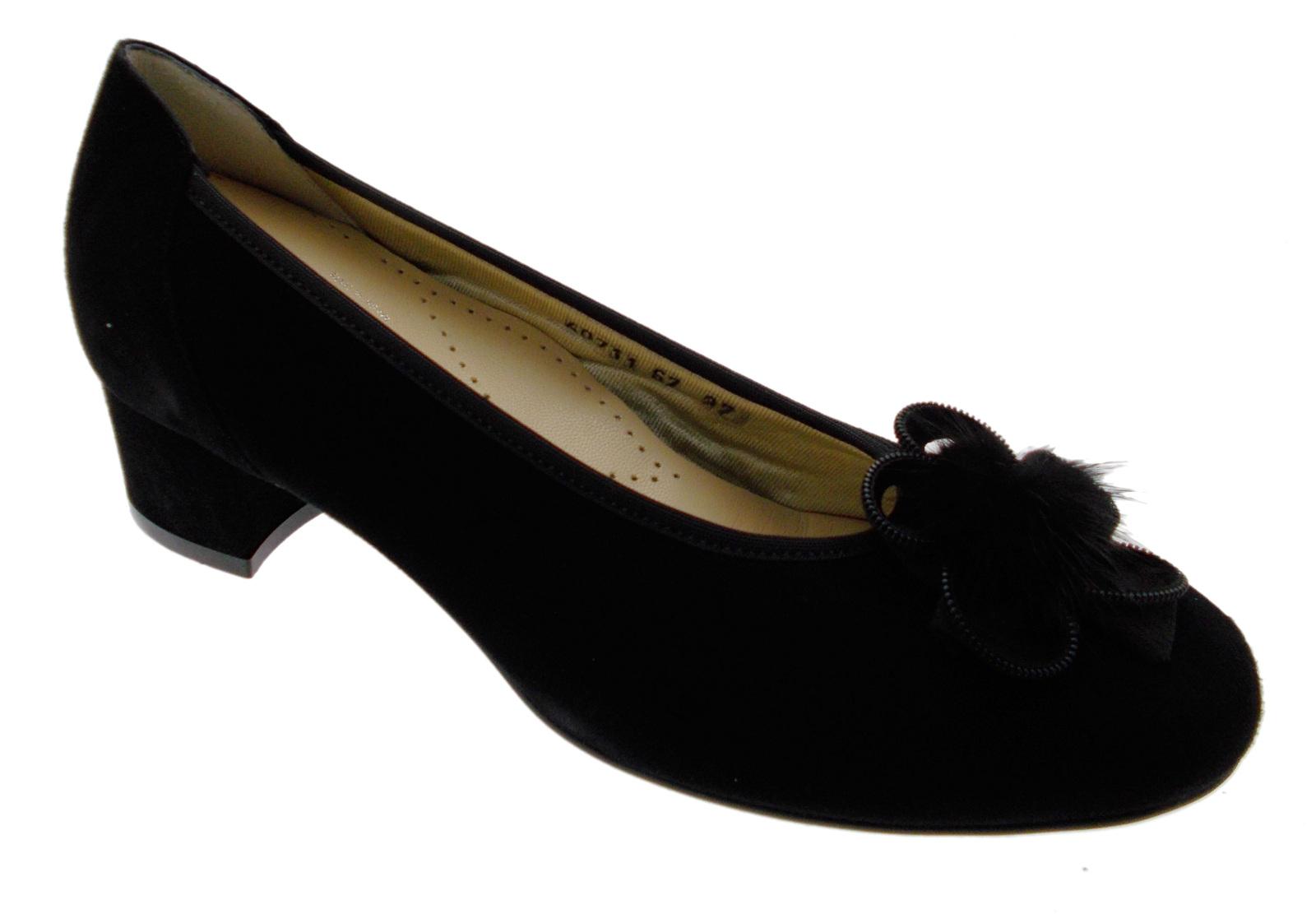 Decolte camoscio black classico elastico fiocco art 60711 Loren