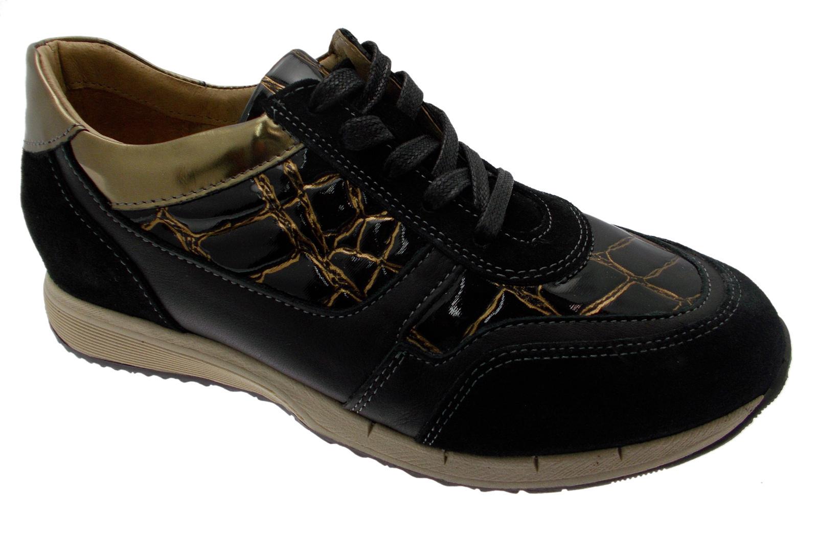 Article C3716 laces black leather bronze foot orthopedic coconut Loren Loren Loren e94fb5