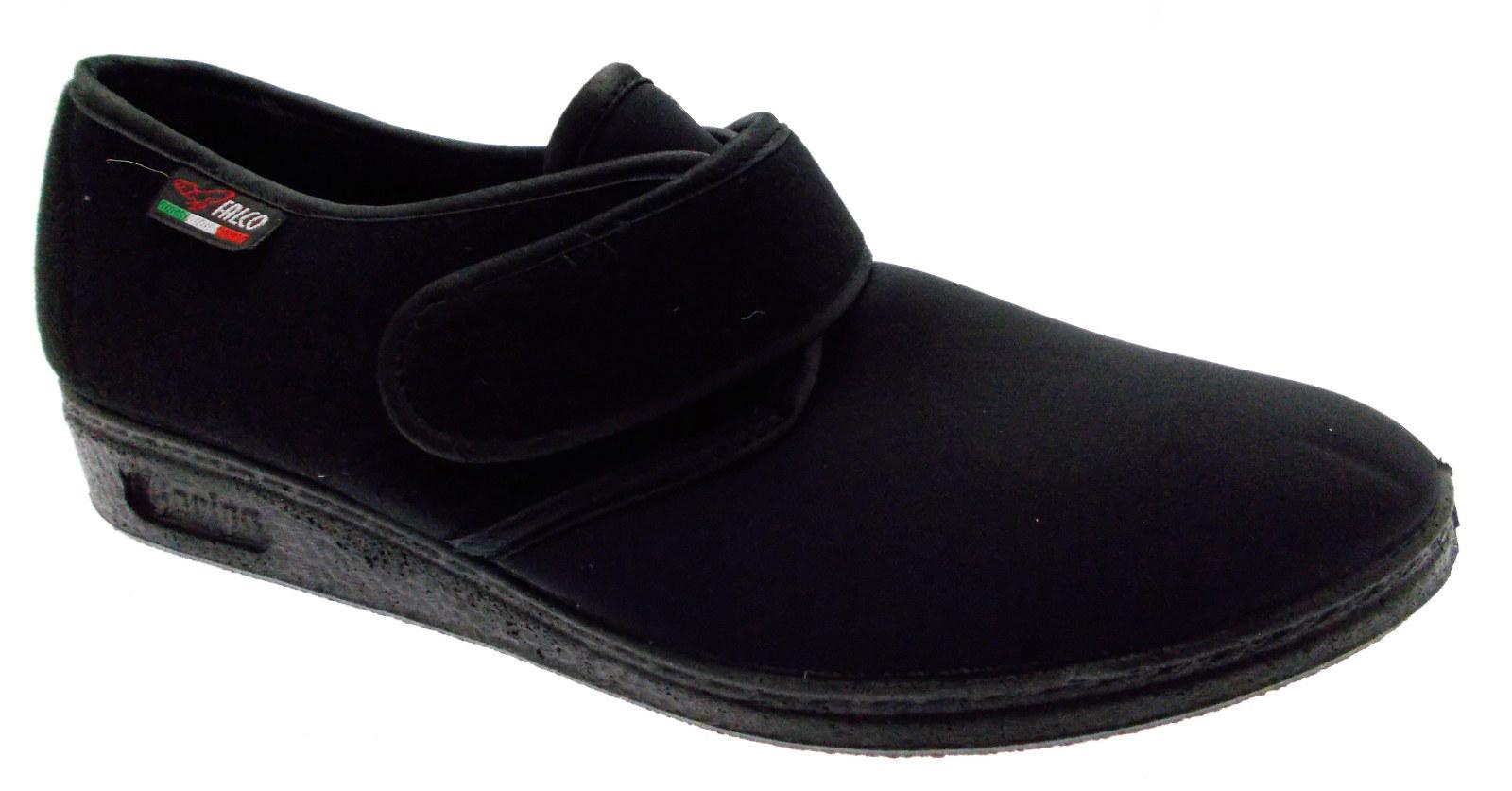Slipper Velcro cloth noir stretch physiotherapy extra large ART 902 Gaviga