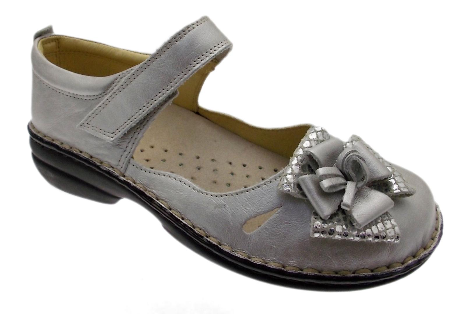 Art M2598 ballerina laccetto argento fiore grigio metal ortopedica fiore argento 6b500d
