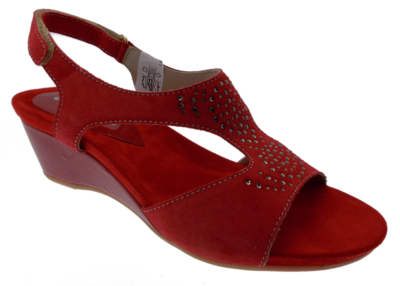 Melluso MEK95015ro rosso - Chaussures Sandale Femme