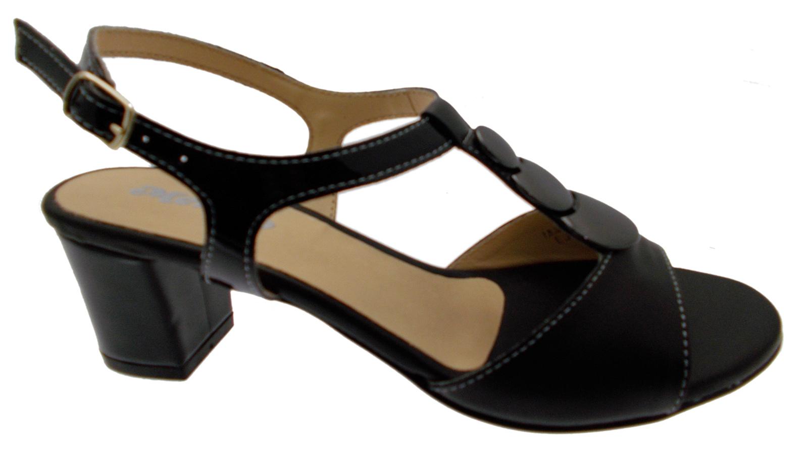 Sandalskvinna öppnade öppnade öppnade svart skinnmyntkonst K95328P Melloso  försäljning online rabatt