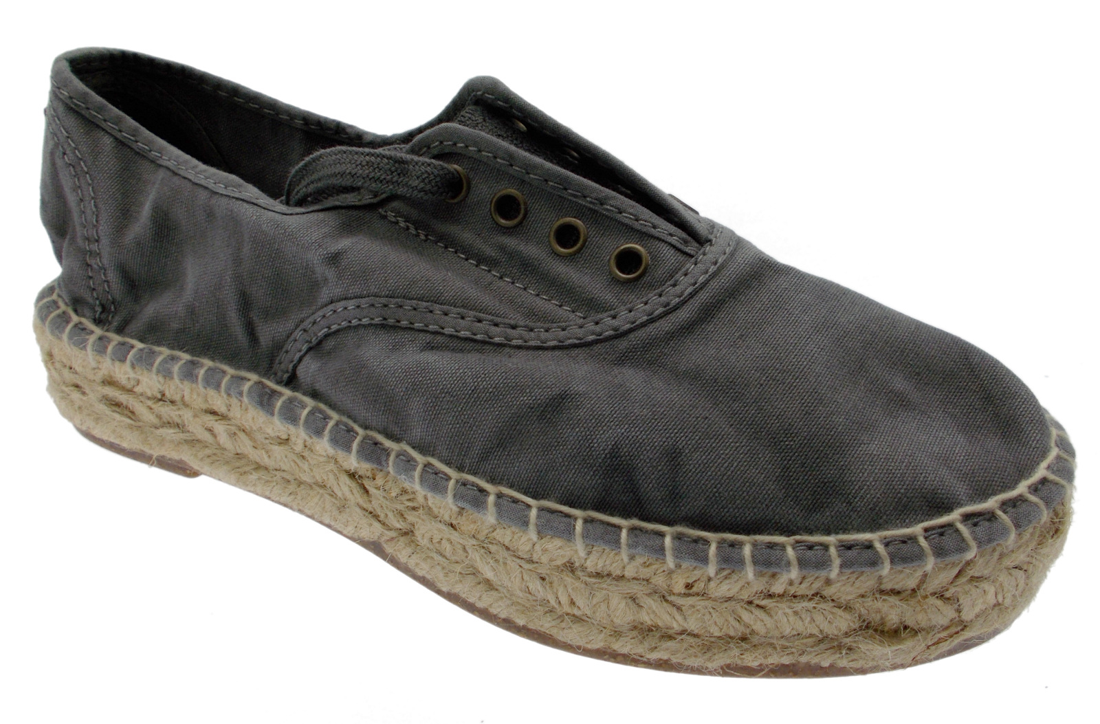 Tennis animal free tela grigio enzimatico vegan espadrillas Natural World