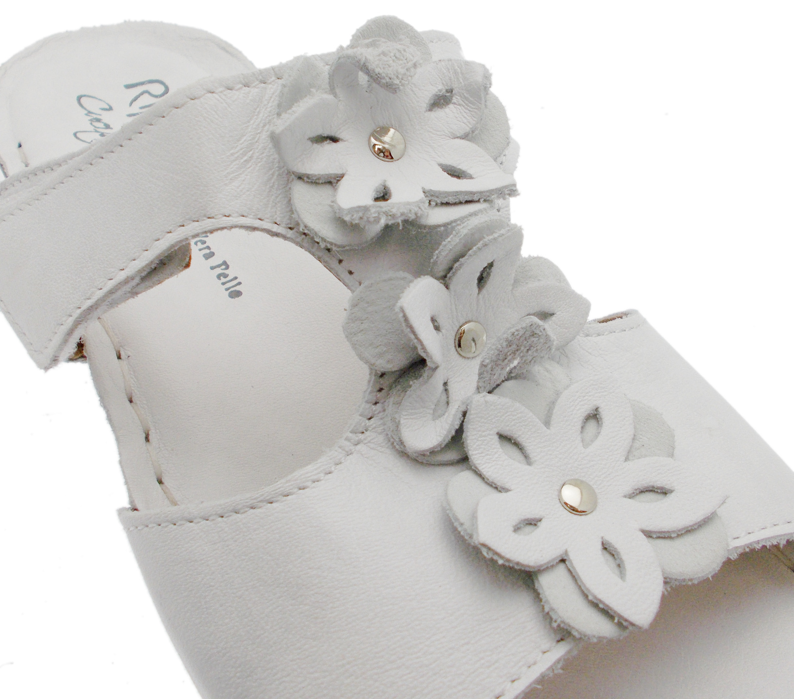 Art Donna Strappo 10211 Fiori Velcro Comoda Aperta Bianca Ciabatta Riposella vSA0q0