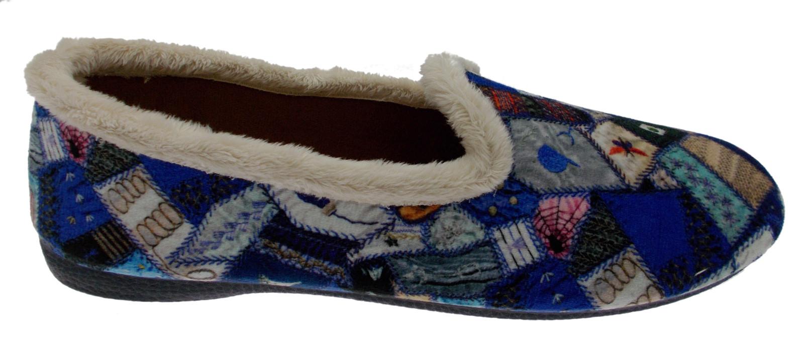 bluee slipper fantasy patchwork art 4138 Riposella