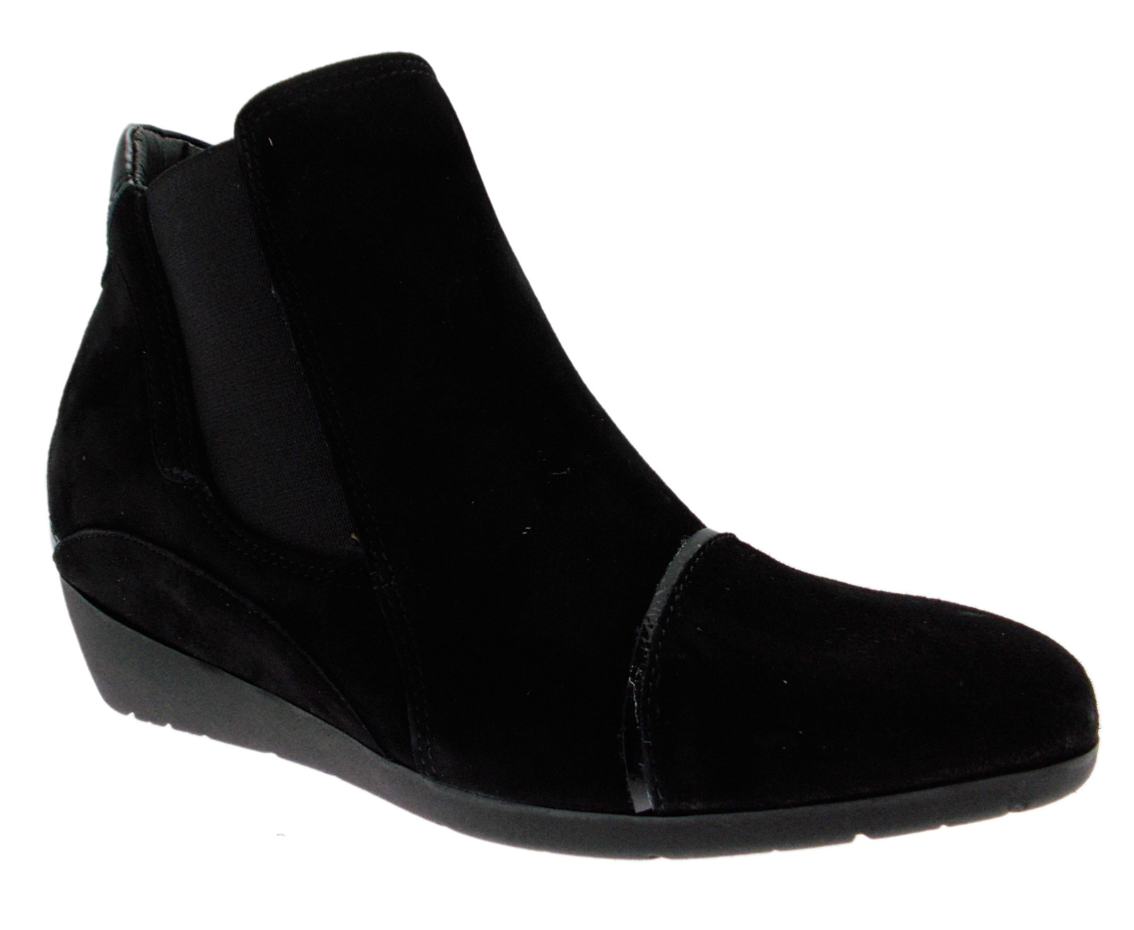 Black suede wedge boots Riposella