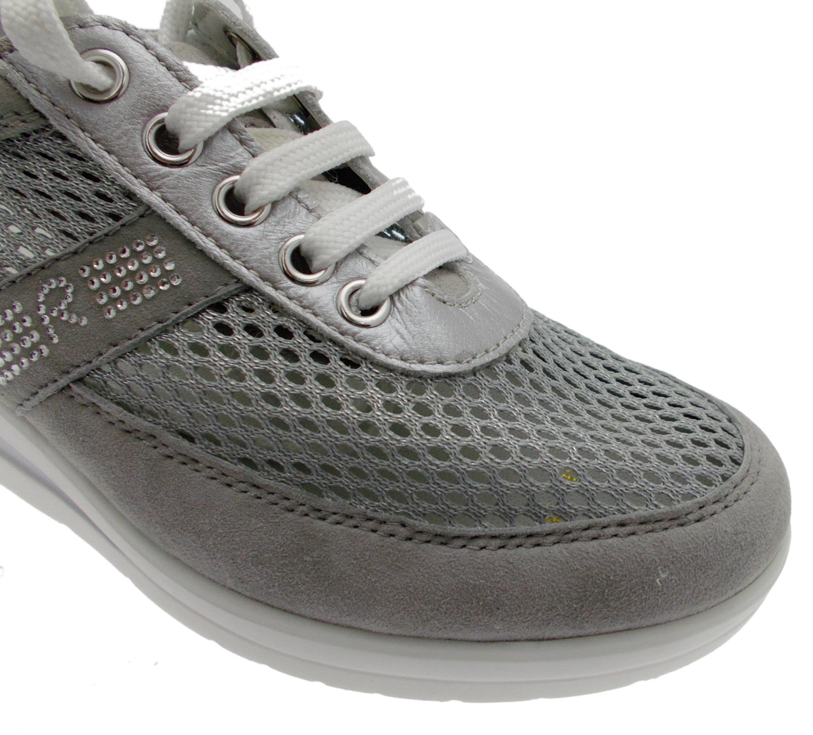 lacci grigio zeppa art 75850 scarpa donna donna scarpa plantare rete Riposella 050861