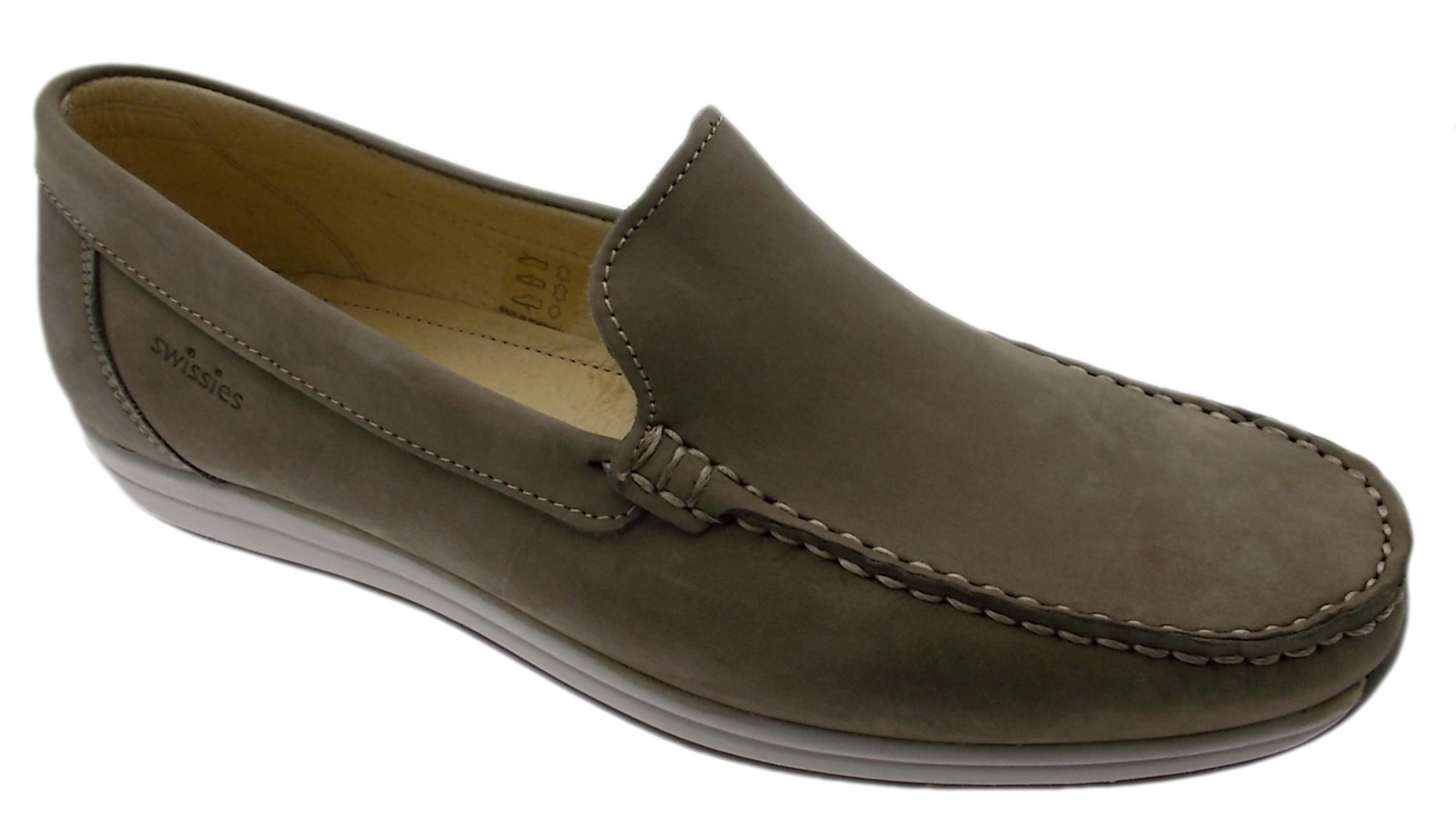 Grijs nubuck loafer klassieke kunst MURRAY Swissies