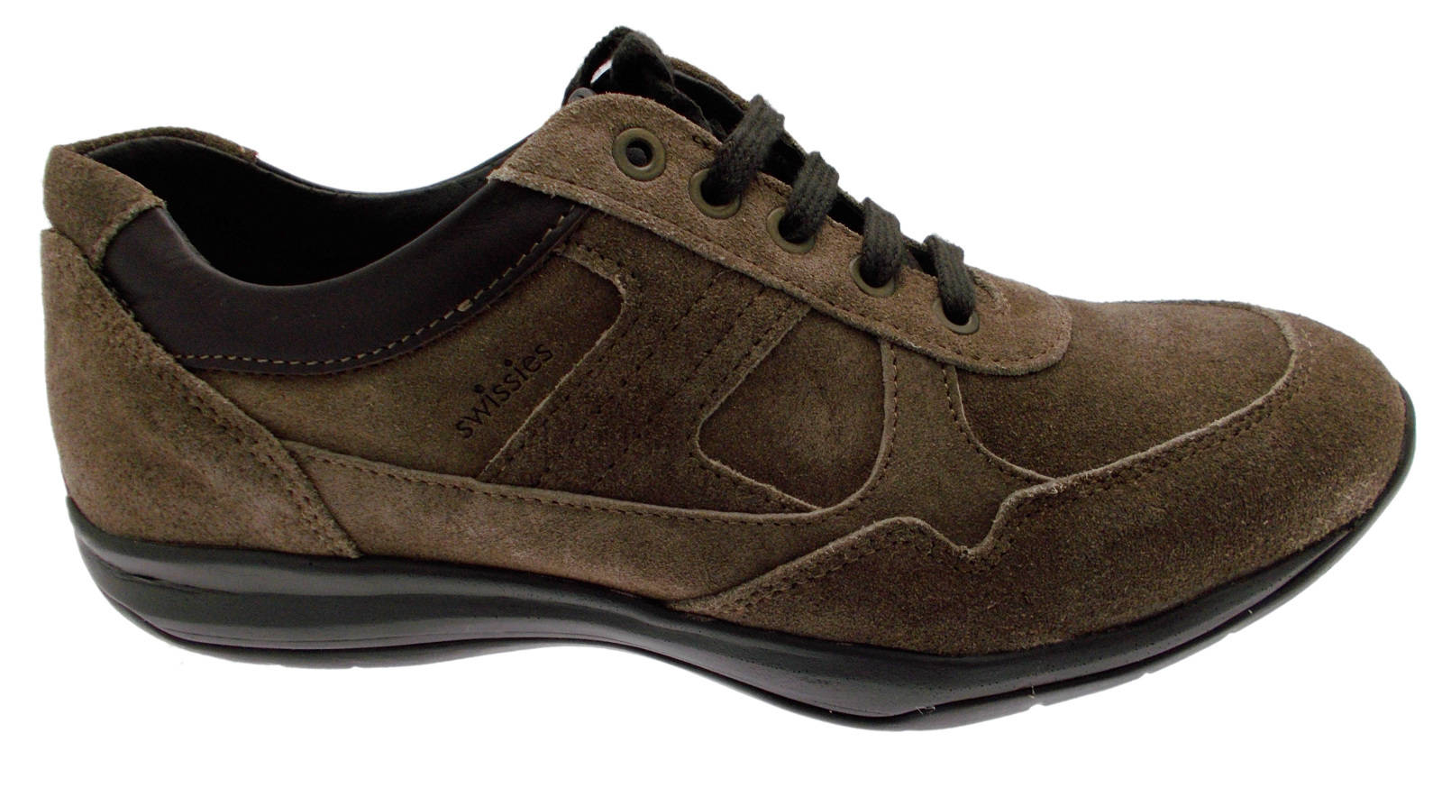 Man shoe laces taupe suede sneaker art TONY Swissies