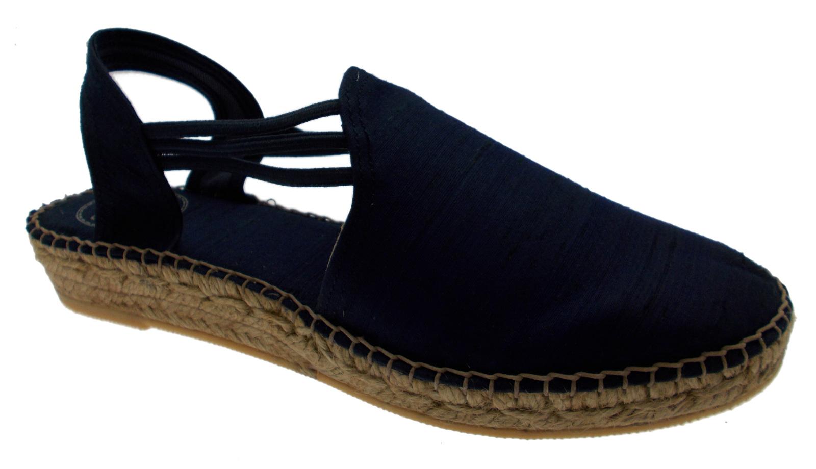 Sandalo corda blu mari raso chiuso zeppa art NEUS P animal free espadrillas Toni P NEUS 303769