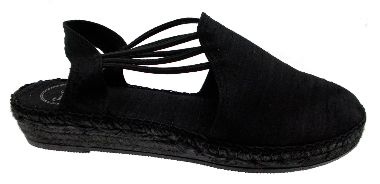 Último gran descuento sandalo corda nero  raso chiuso zeppa art NEUS animal free espadrillas Toni Pons