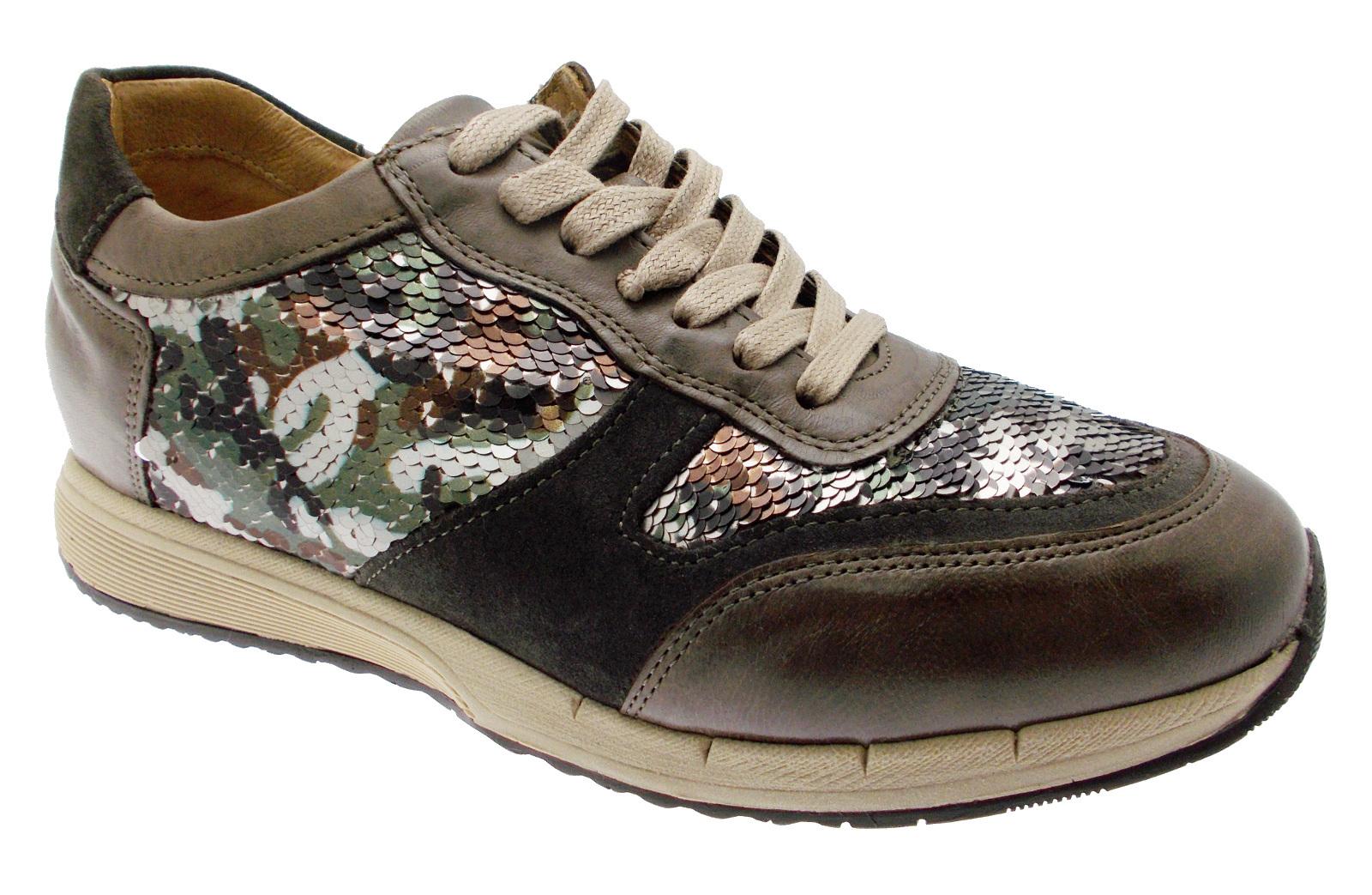 Article C3717 orthopedic shoe woman taupe military sneaker loren