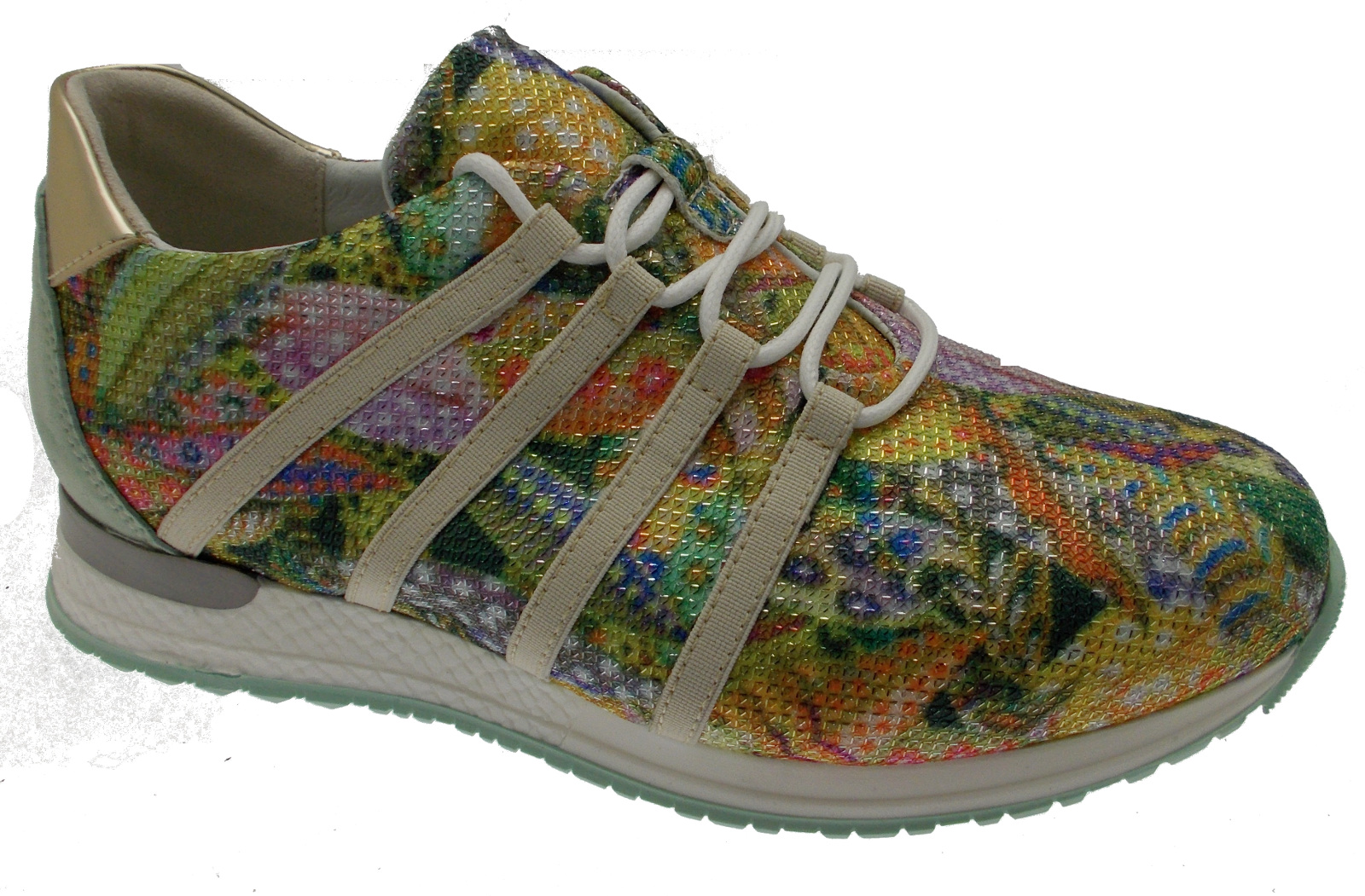 C3732 multicore fantasy sneaker laces green orthopedic plantar loren