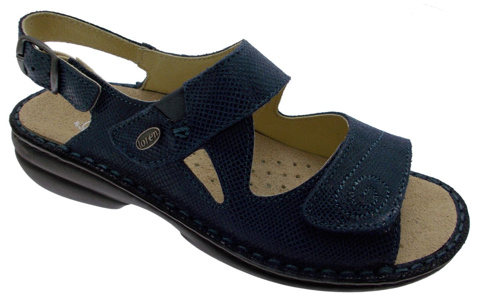 M2595 orthopédique sandale bleu extra grande clé à molette Loren