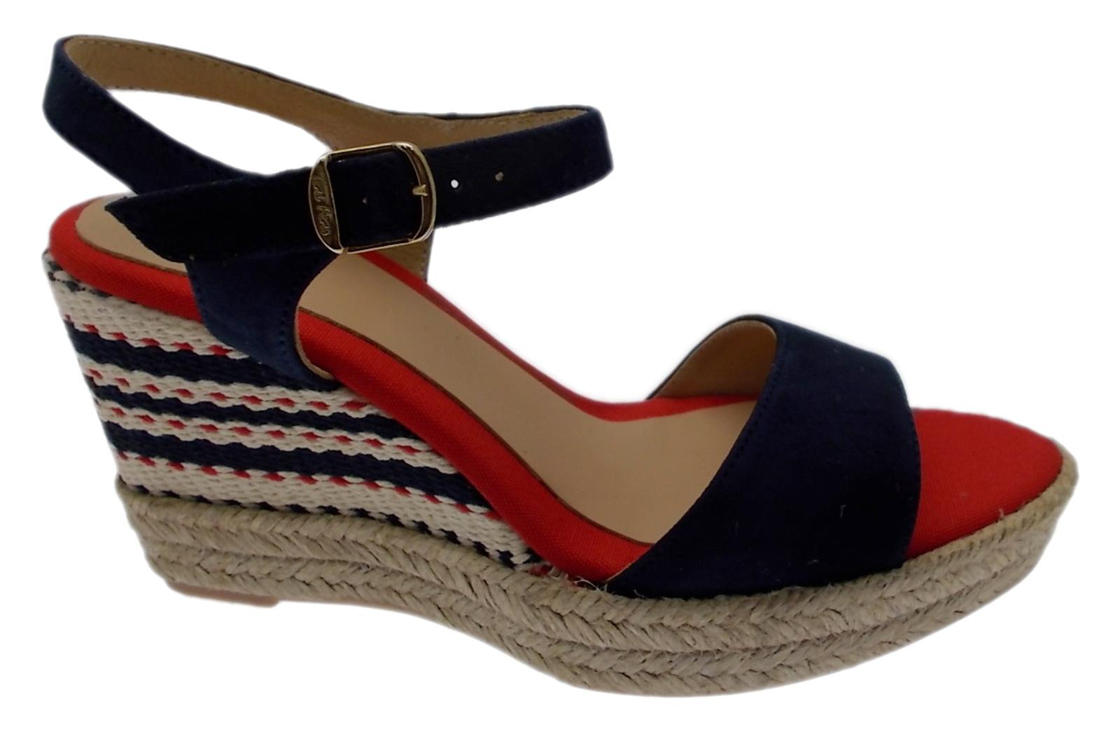 ALEXIA sandalo  corda multicolor  blue bianco red zeppa espadrillas Toni Pons
