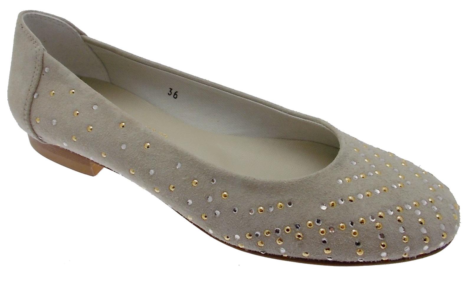 1492 1492 1492 paperina ballerina camoscio beige brillanti Calzaturificio R.P 1929a6