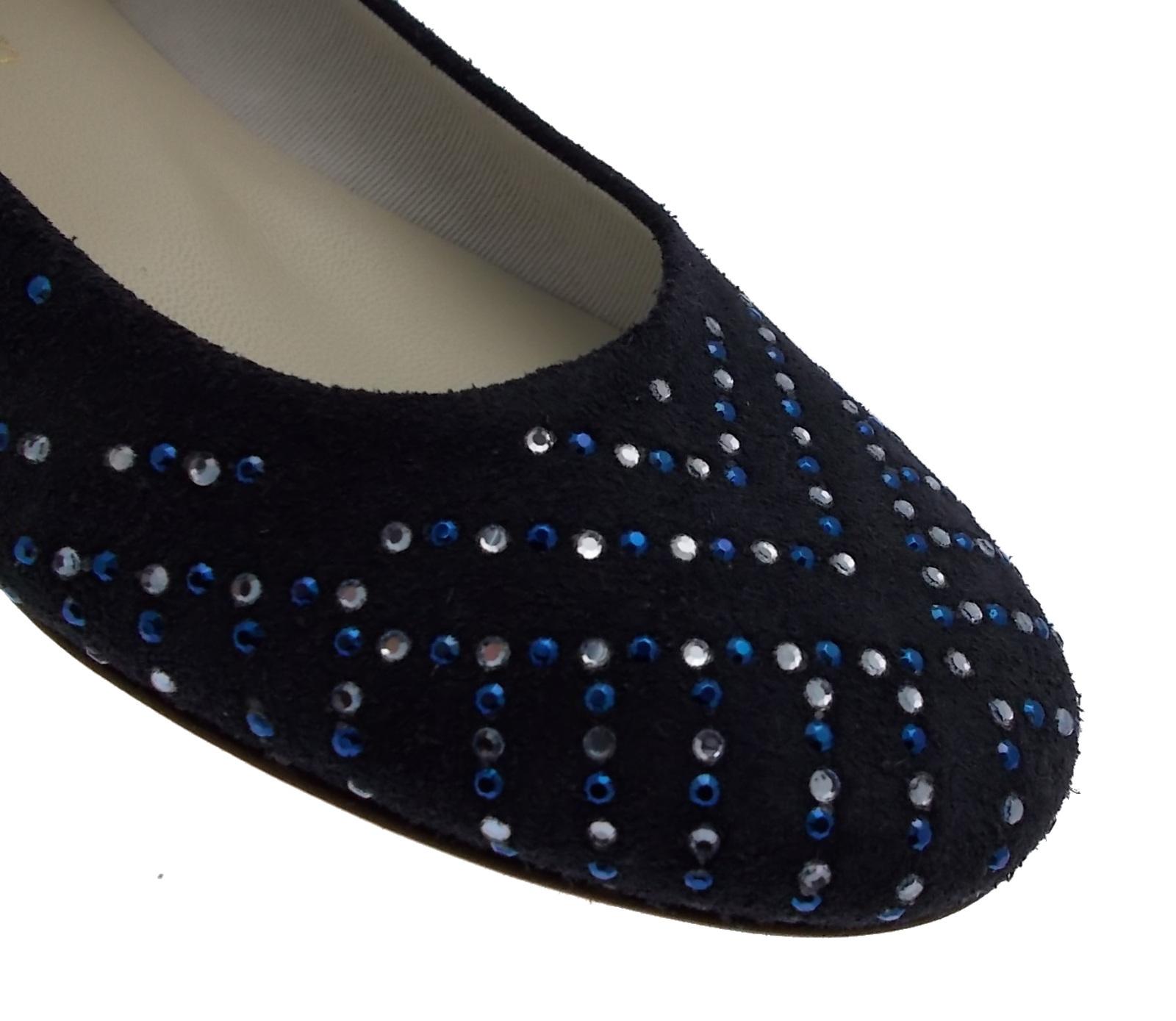 1492 paperina ballerina camoscio blue blue blue brillanti Calzaturificio R.P a085f9