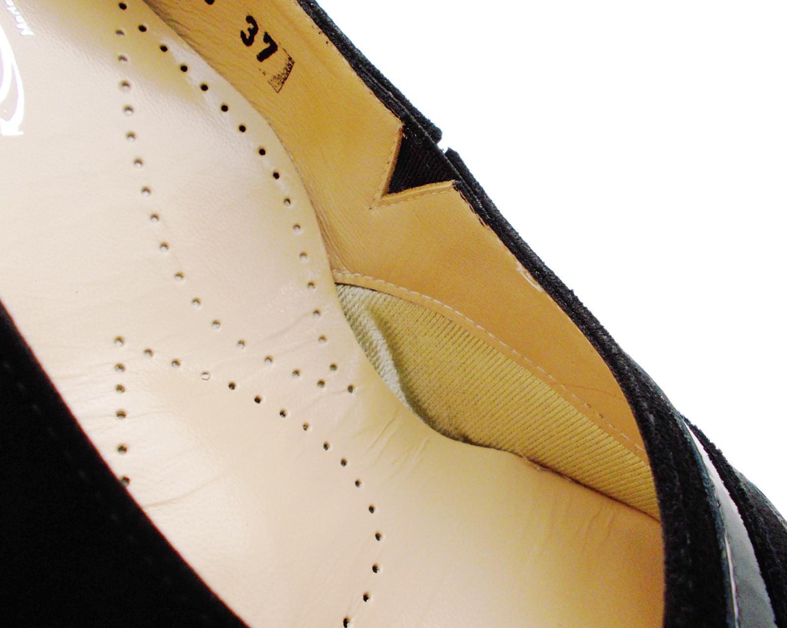 60759  Loren decolte negro camoscio vernice ortopedica projoisposta plantare Loren  011bb4