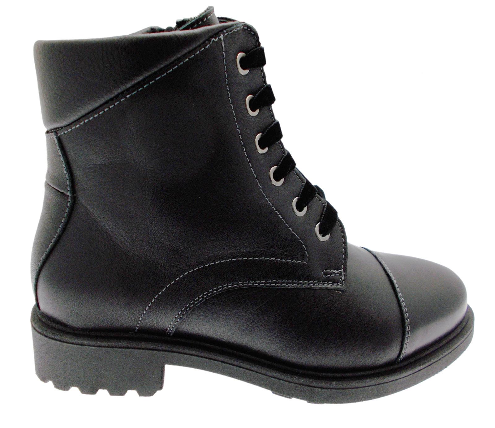 C3777 anfibio nero stivaletto boot nero anfibio ortopedico plantare Loren 95779d
