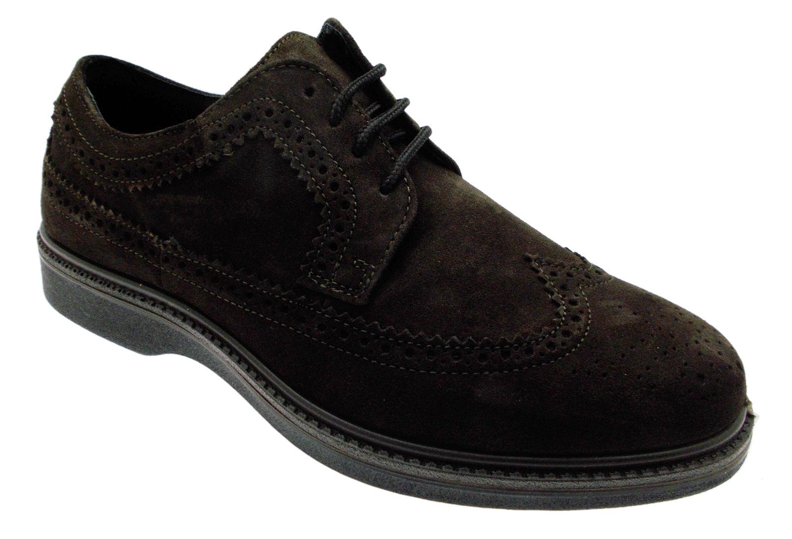 G0292 lacci  inglese marrone scarpa uomo plantare ortopedica Loren