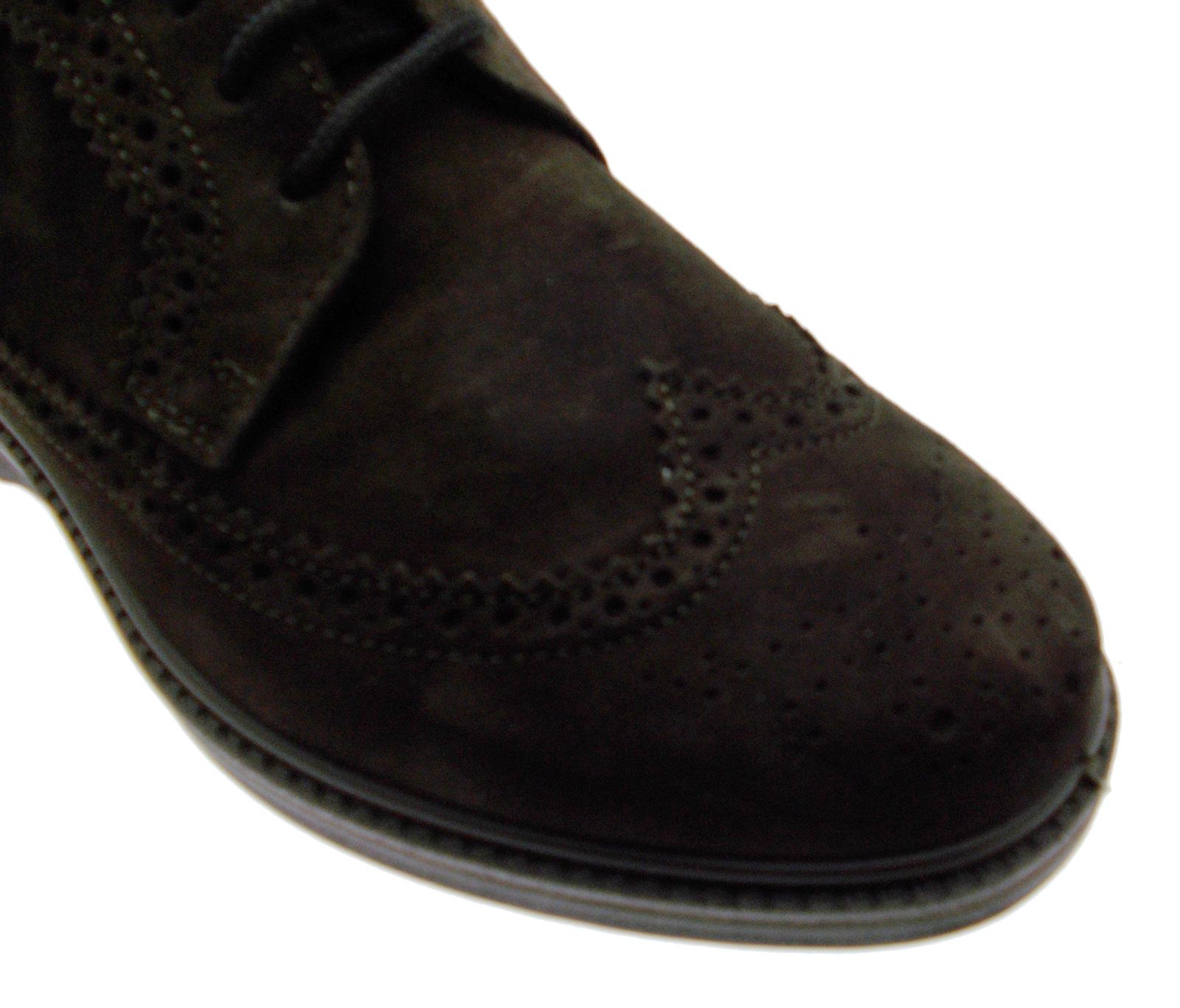 Dettagli su G0292 lacci inglese marrone scarpa uomo plantare ortopedica Loren