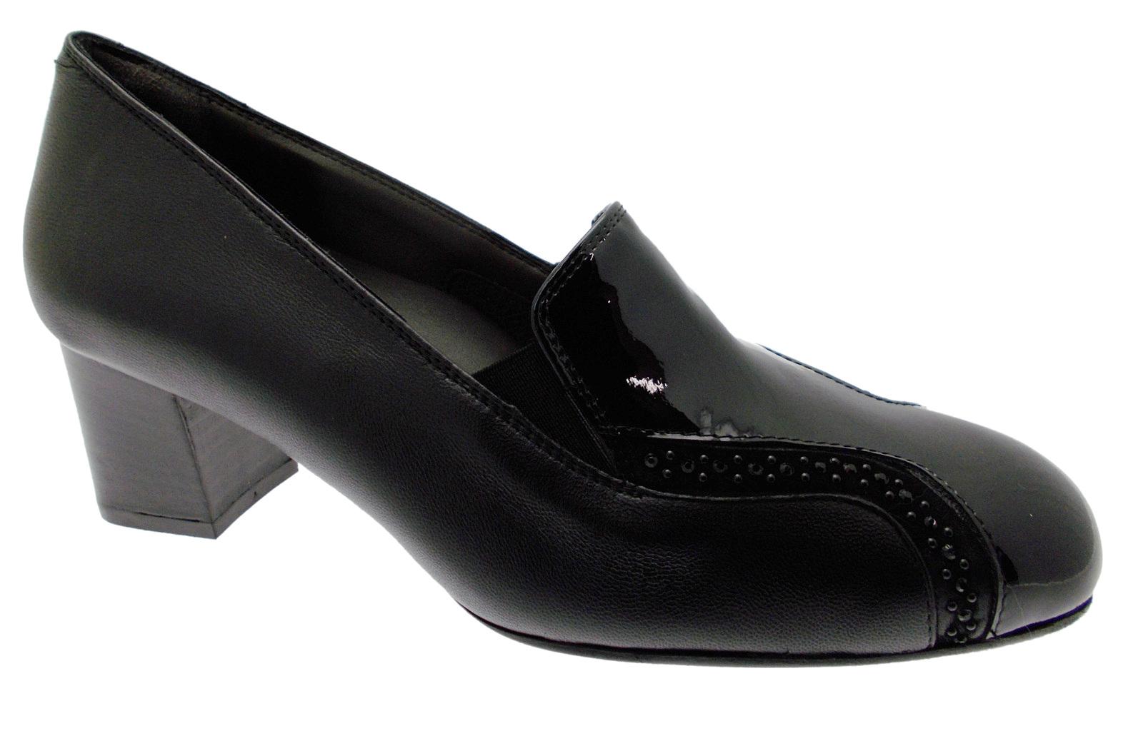 X5478  Accollato classico pantofolina pelle nera vernice Melluso
