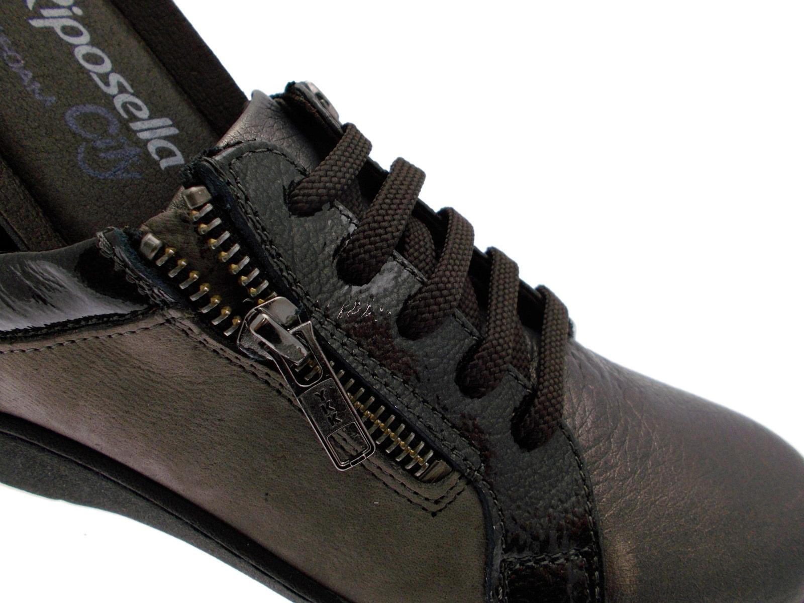 6557 taupe sneaker accollato con cerniera taupe 6557 plantare  soft memory Remonte 15c976