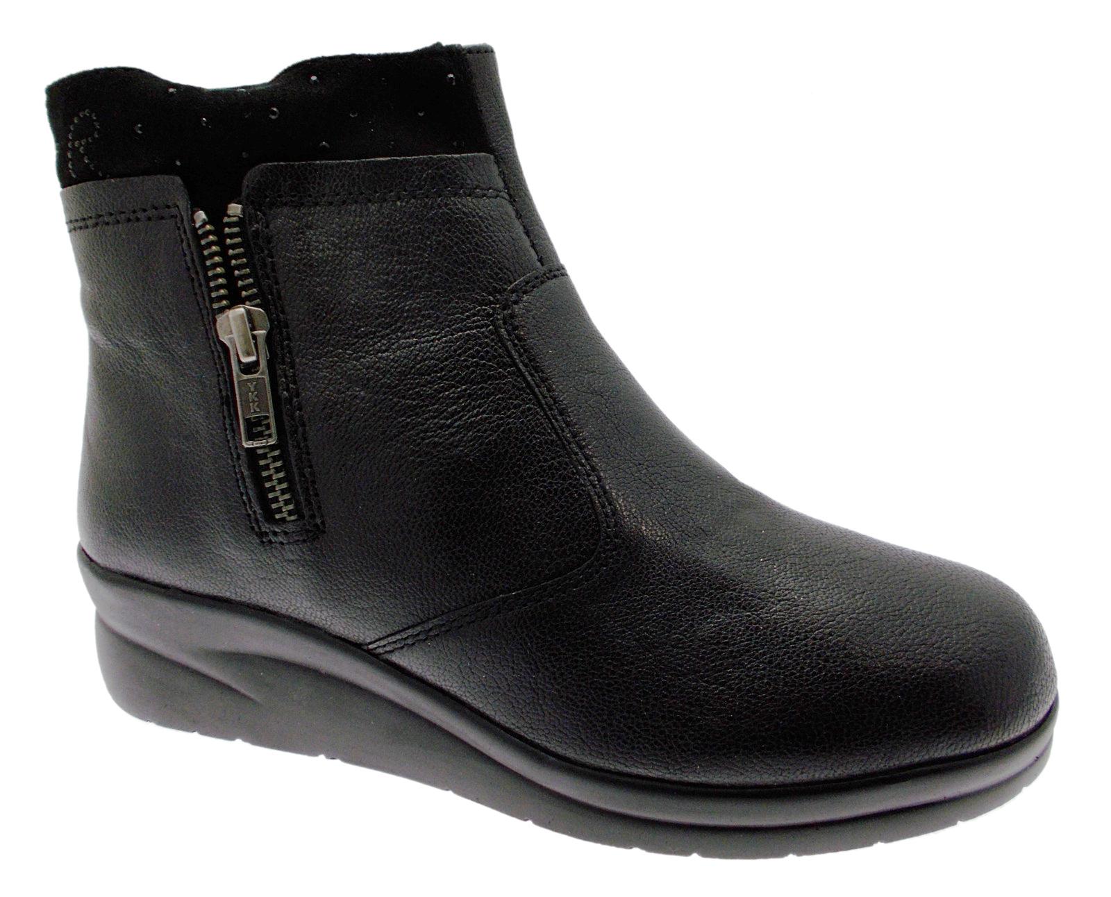 75906 black boots boot ancke boot woman Riposella