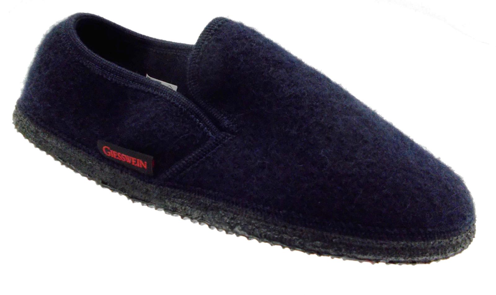 32/10/40847 588 NIEDERTHAL pantofola feltro dark dark dark  blue Giesswein 567848