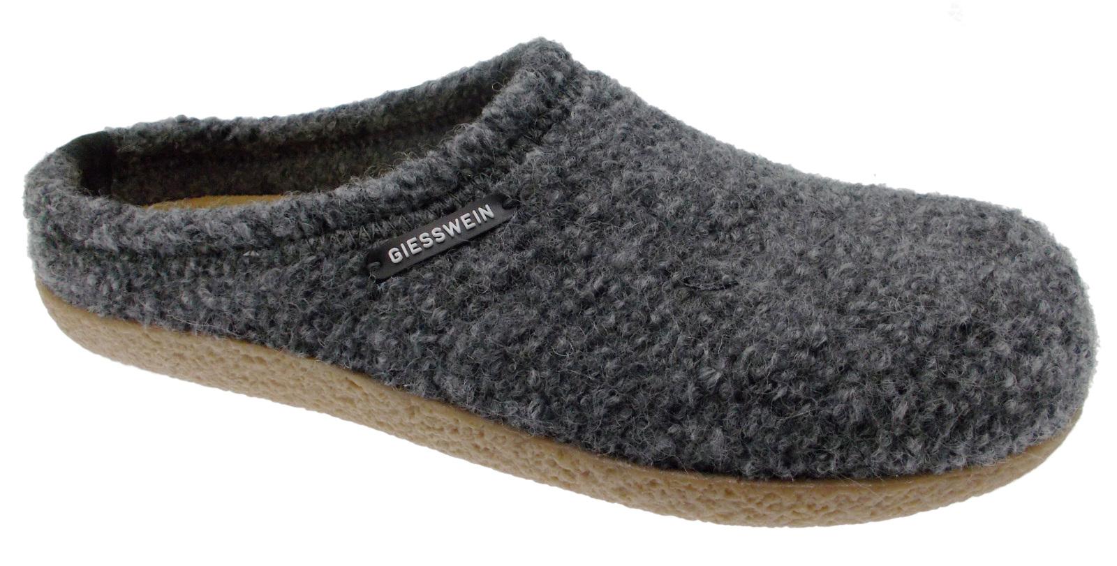 52/10/47848 019 Veitsch slipper unisex uitneembaar voetbed grijs doek Giesswein