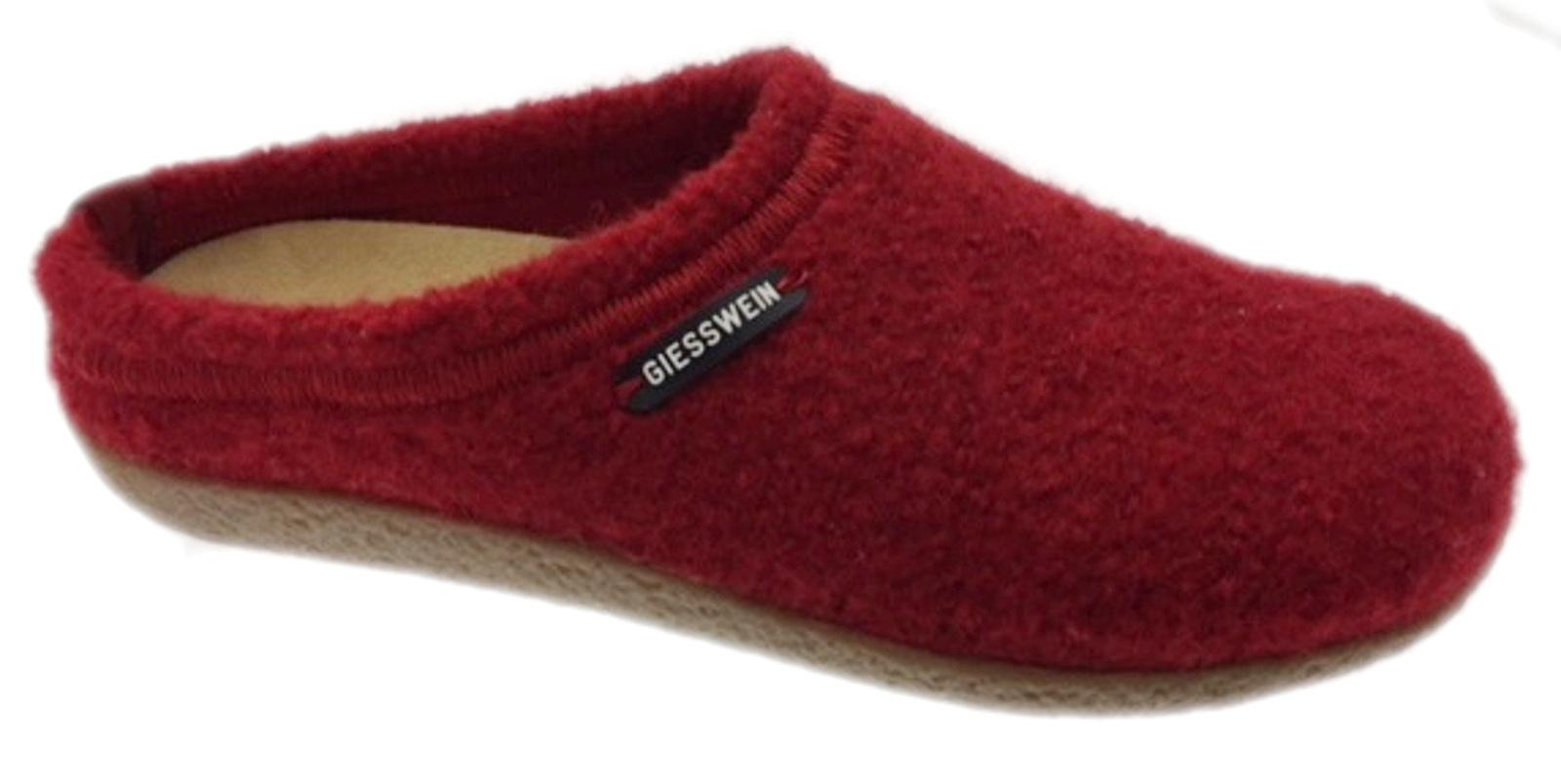 52 10 47848 342 Veitsch slipper unisex rode doek uitneembaar voetbed Giesswein