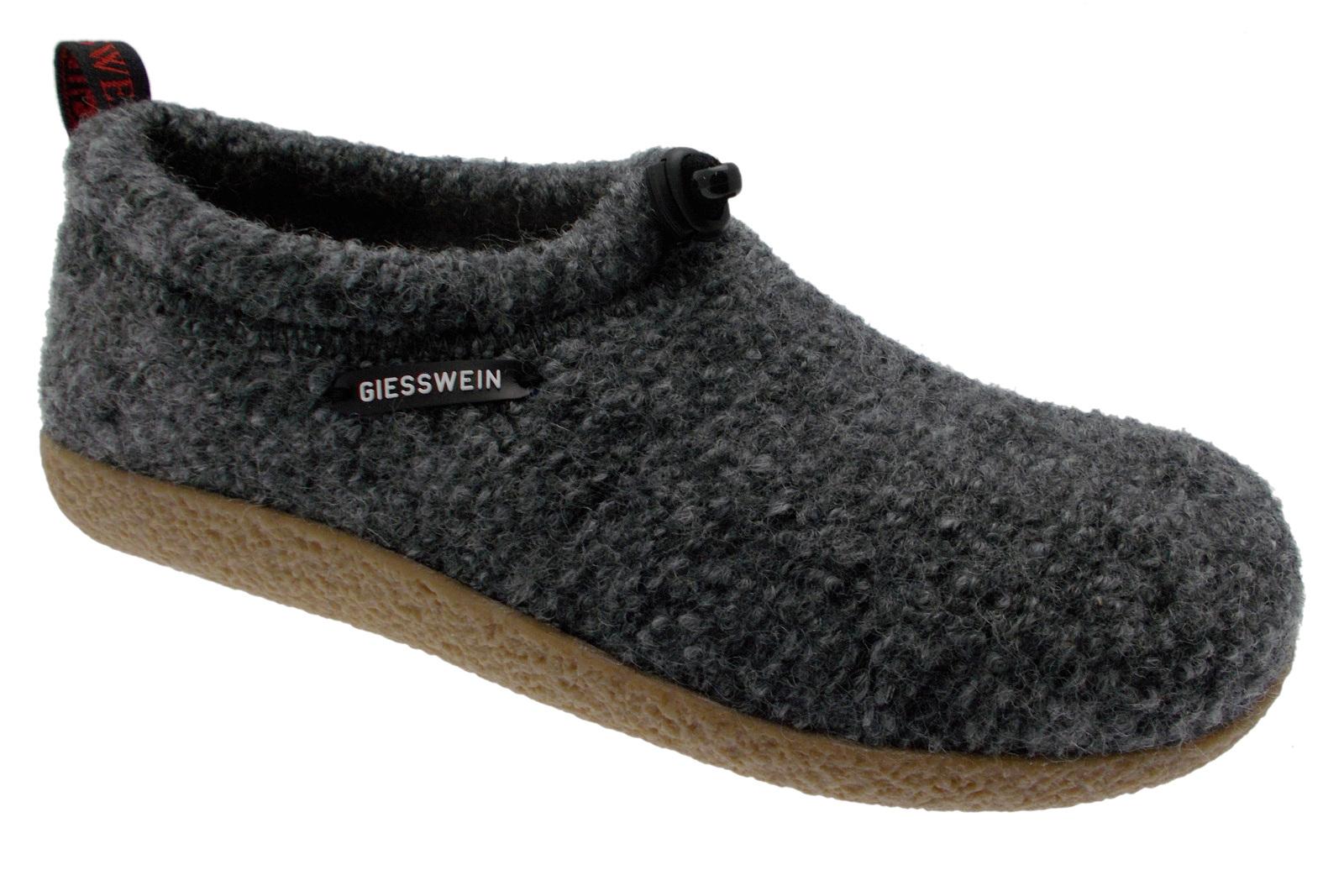 52/10/47849 017 VENT slipper unisex uitneembaar voetbed grijs doek Giesswein