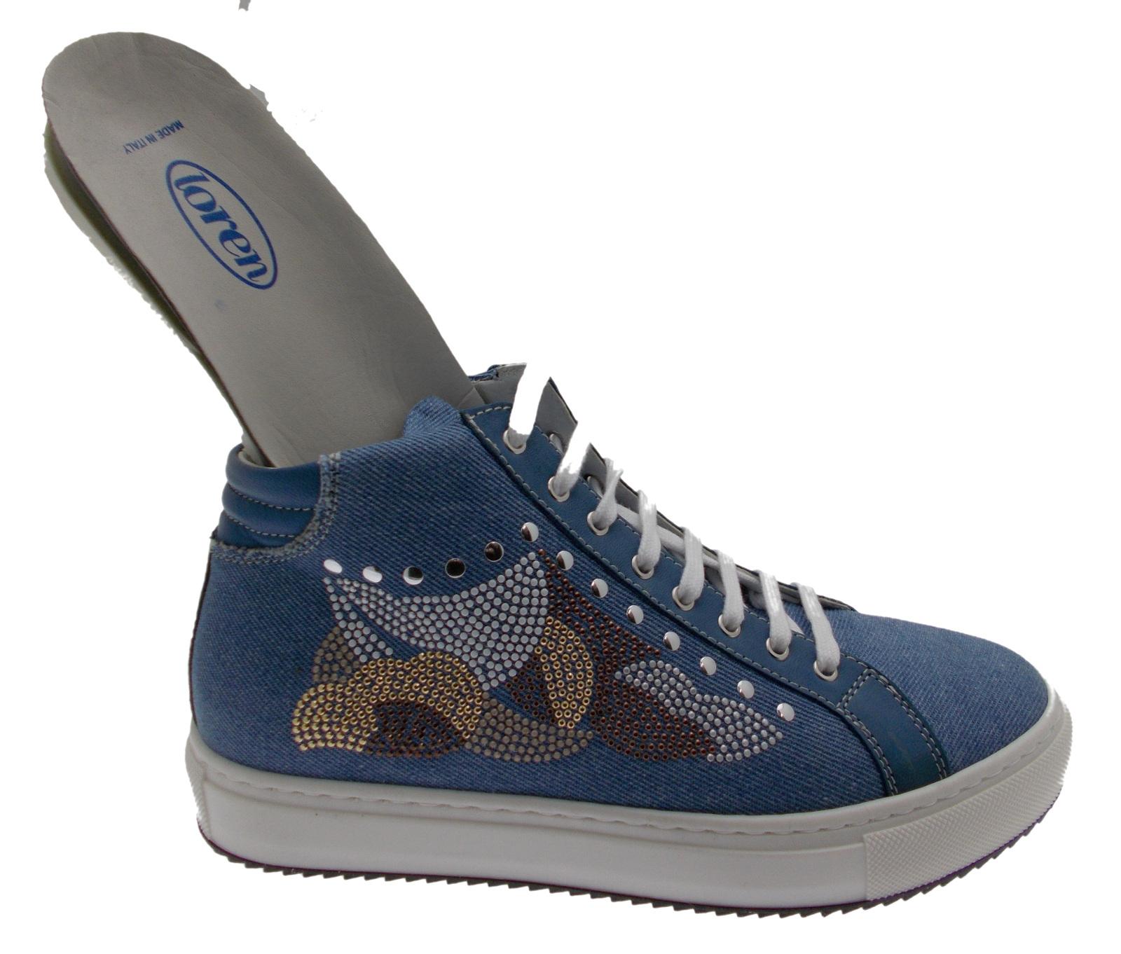 C3780 scarpa donna sneaker jeans plantare ortopedico Loren