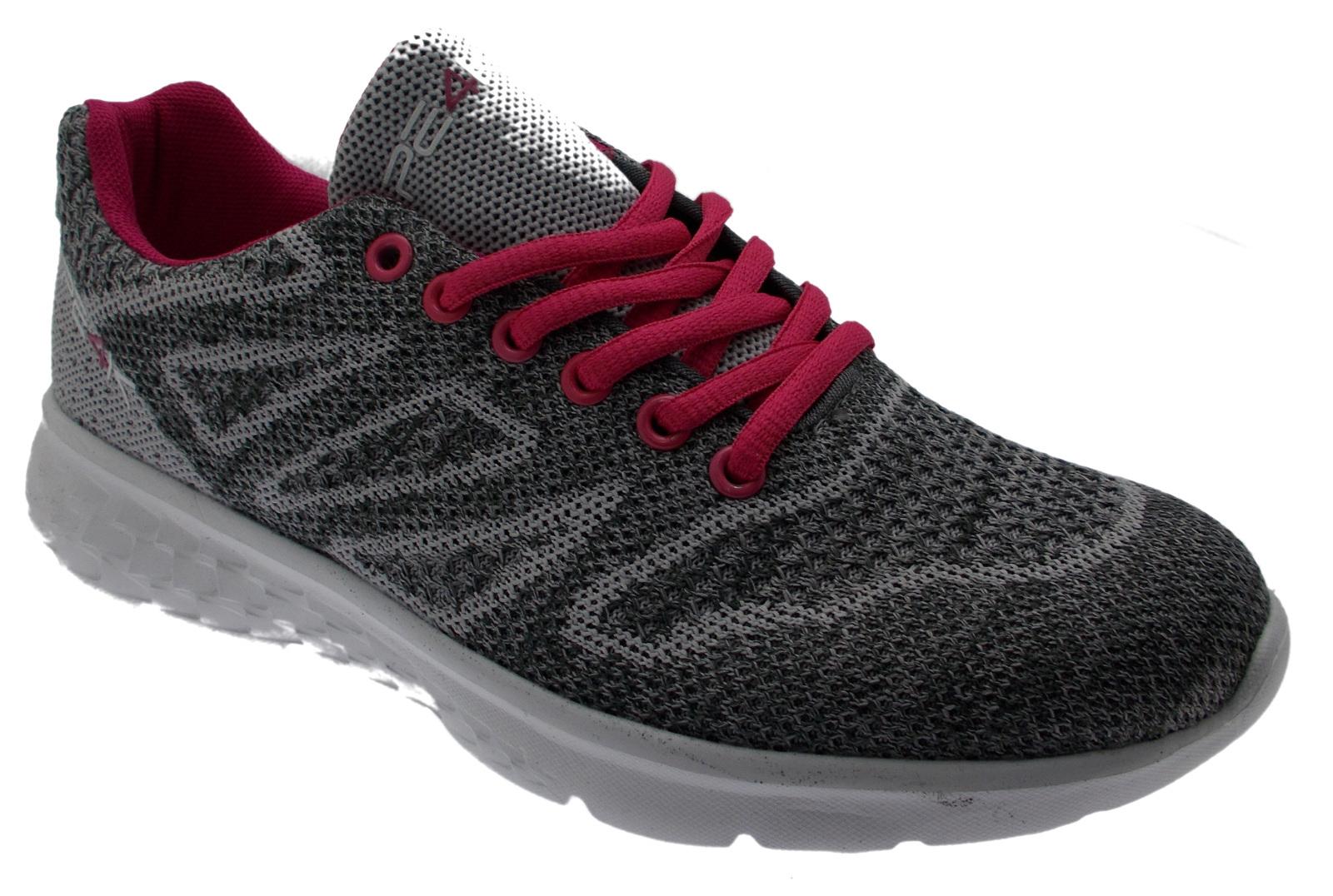 L10-S310C  sneaker grigio fuxia plantare memory form PE4K