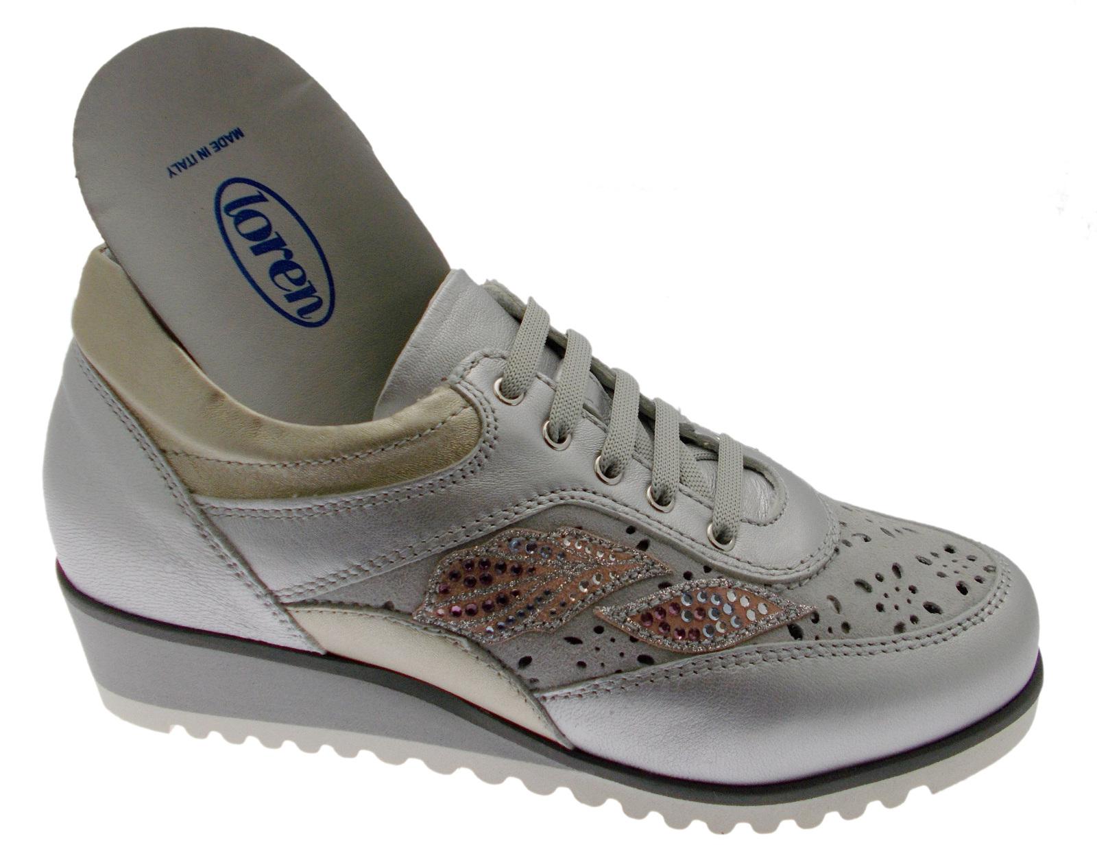 2deeb3cb ... Zapato de ortopédicos mujer C3788 ortopédicos de Cordones Tenis gris  Polvo Loren 0d8c23 ...
