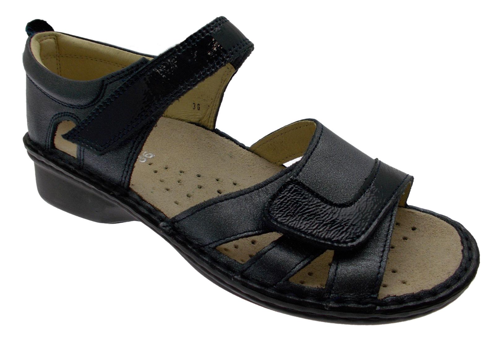 M2524 scarpa ortopedico sandalo blue extra large ortopedico scarpa regolabile Loren 549541