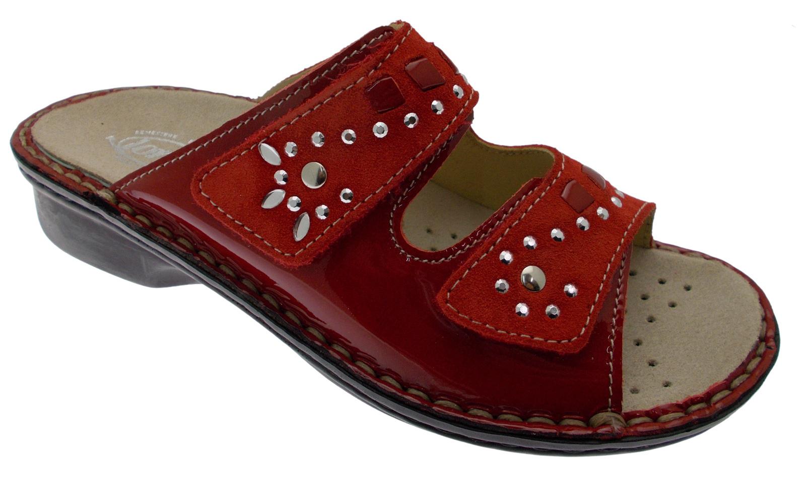 la migliore vendita stilista risparmia fino all'80% M2723 ciabatta aperta rosso extra large ortopedica plantare ...