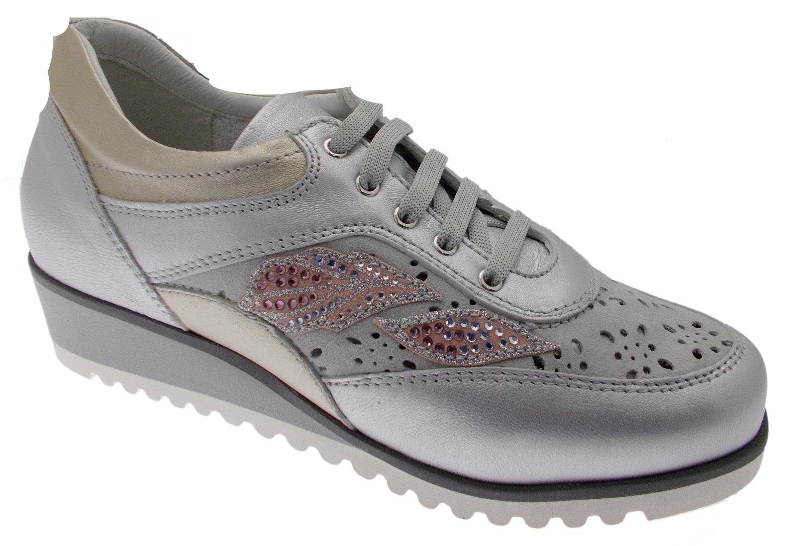 20ef6672 Zapato de ortopédicos mujer C3788 ortopédicos de Cordones Tenis gris Polvo  Loren 0d8c23