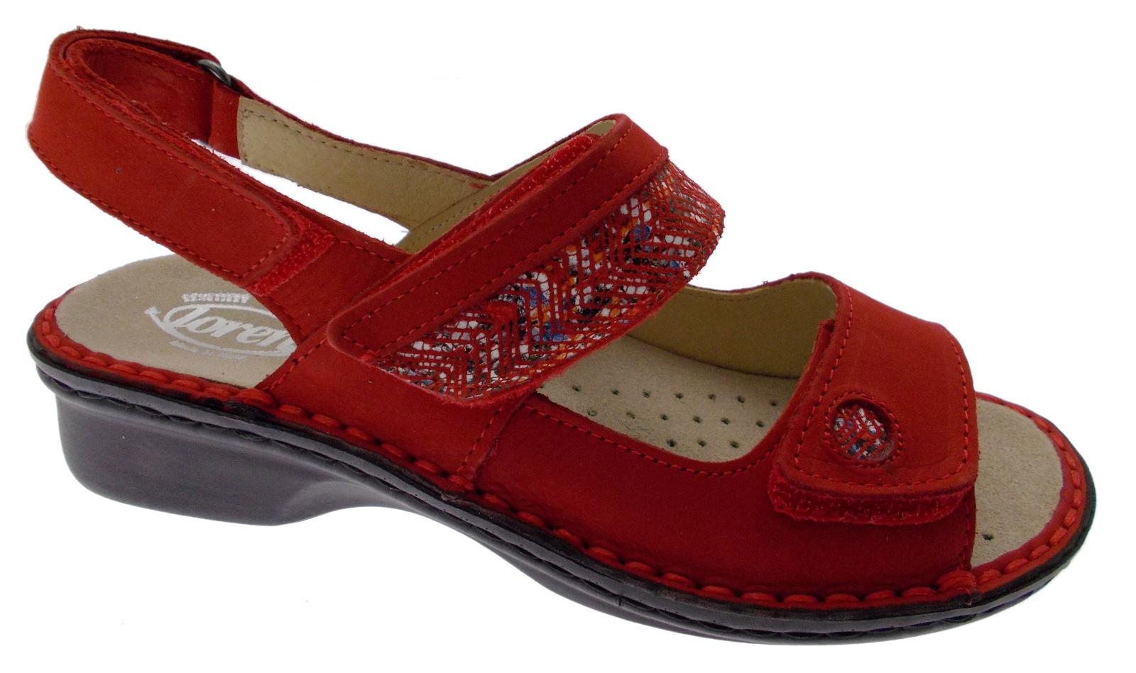 M2716 sandalo rosso extra large ortopedico regolabile Loren