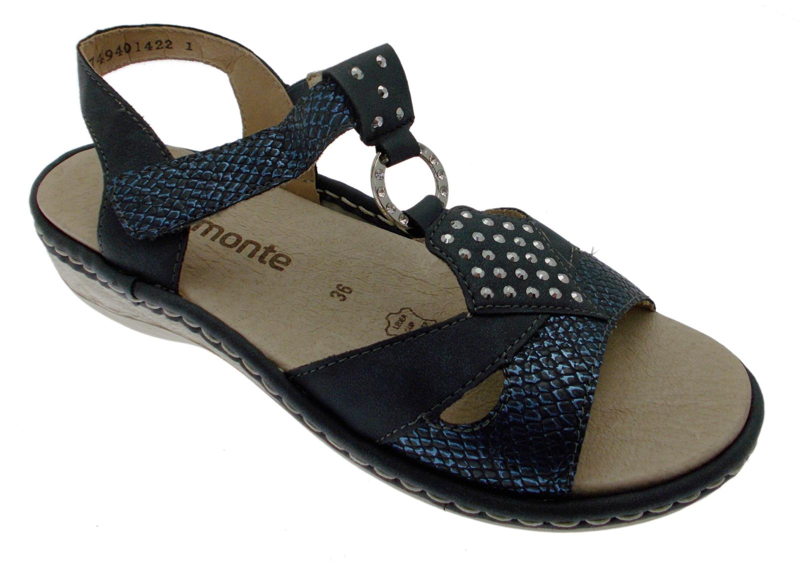 D7668-14 sandaal blauw blauw blauw zacht geheugen voor vrouw Remonte  | Viele Sorten  | Zuverlässiger Ruf  db46f2