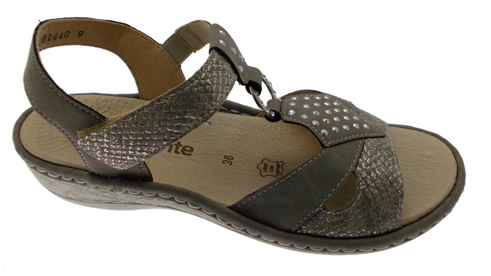 D7668-64 sandalo donna grigio memory taupe  soft memory grigio Remonte 211b42