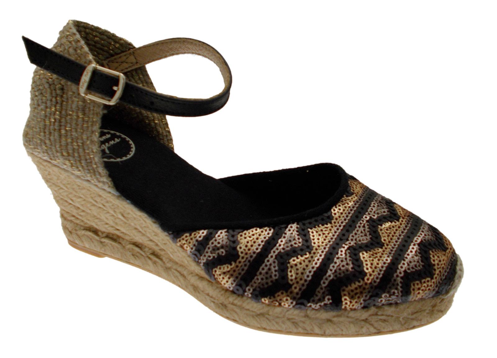 CORFU -5LJ nero scarpa sandalo fantasia corda espadrillas Toni Pons
