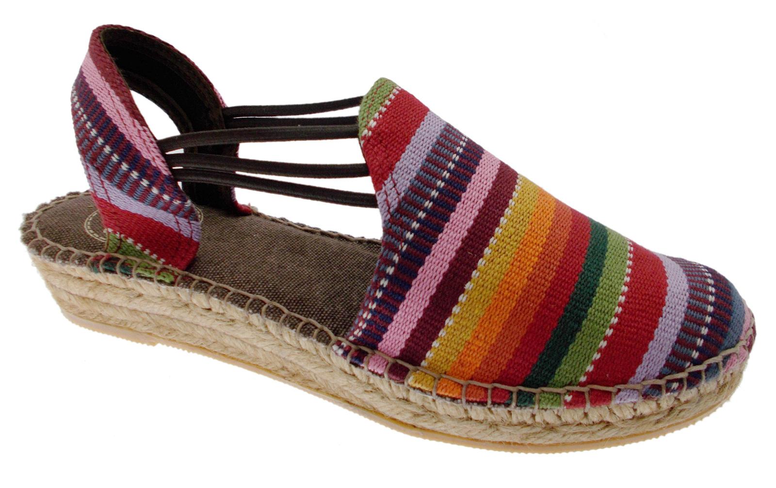 NORMA NORD sandalo  corda multicolor arcobaleno  espadrillas Toni Pons