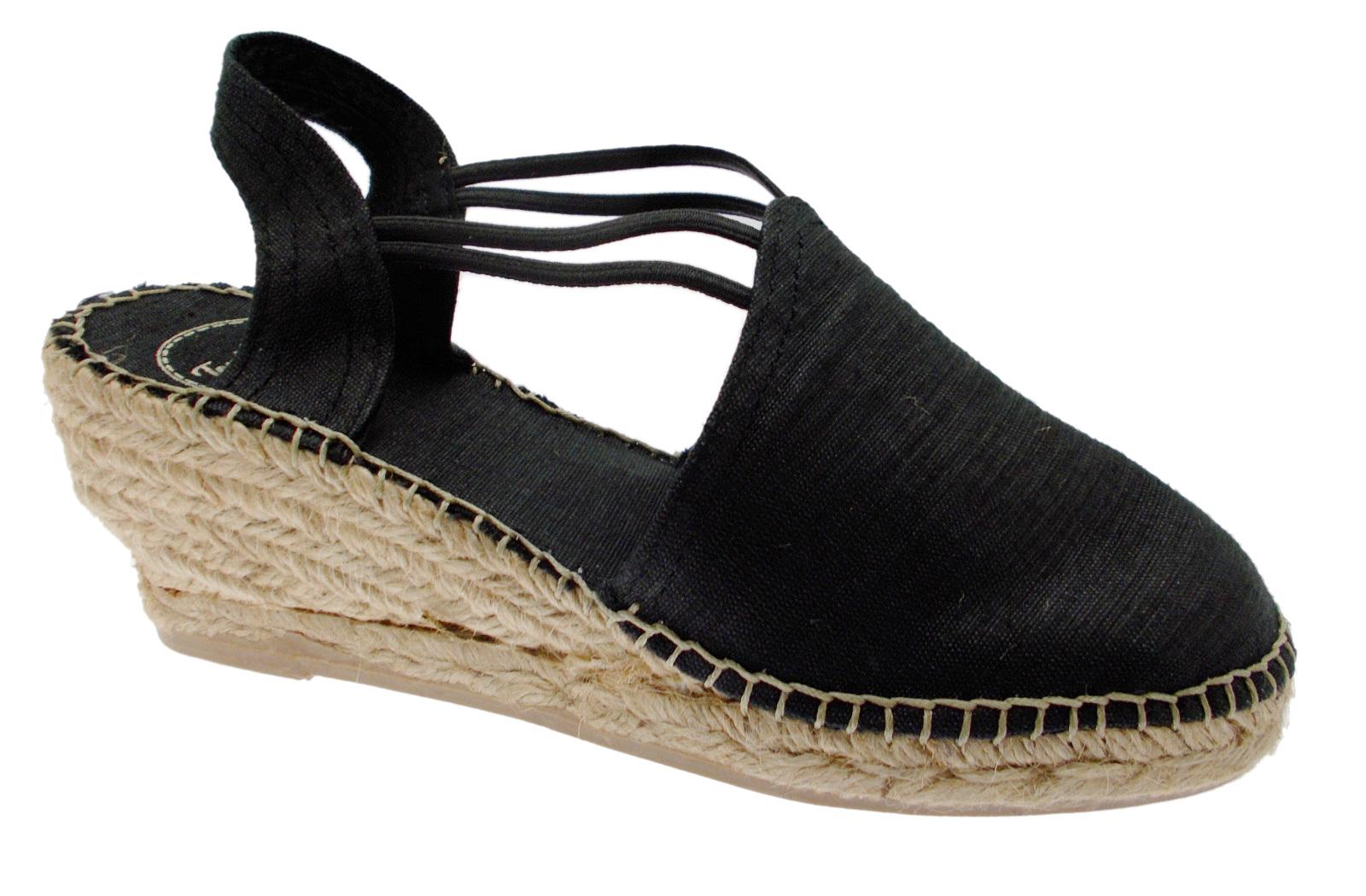 33cf522bf56 Details about TURIA espadrilles black sandal woman rope Toni Pons